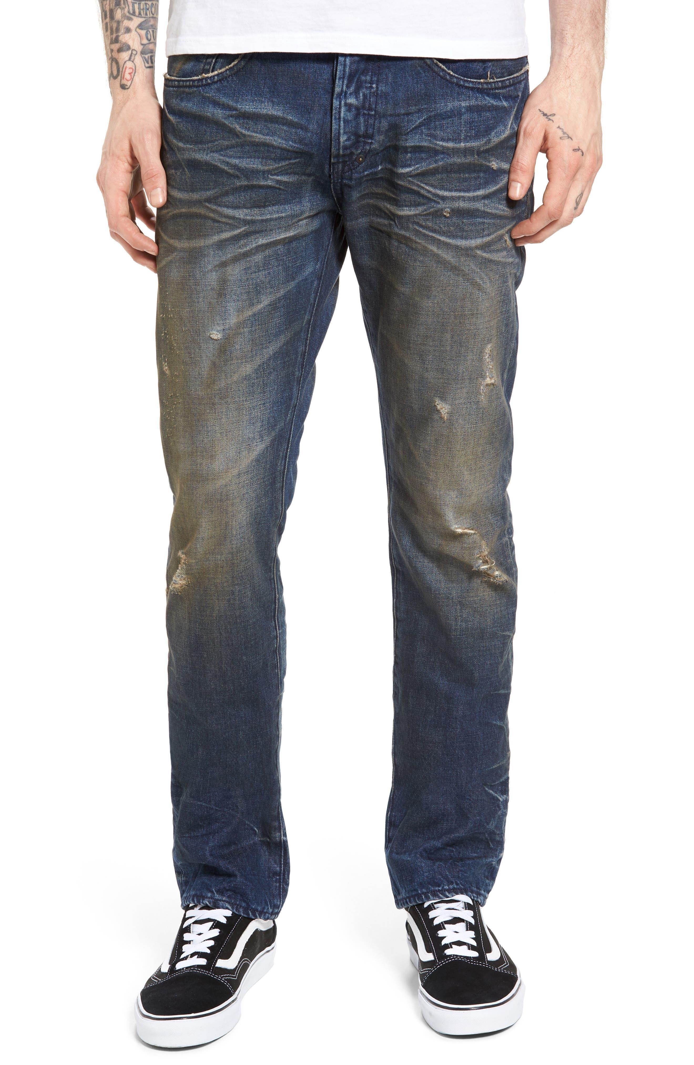 Demon Slim Straight Leg Jeans,                         Main,                         color,