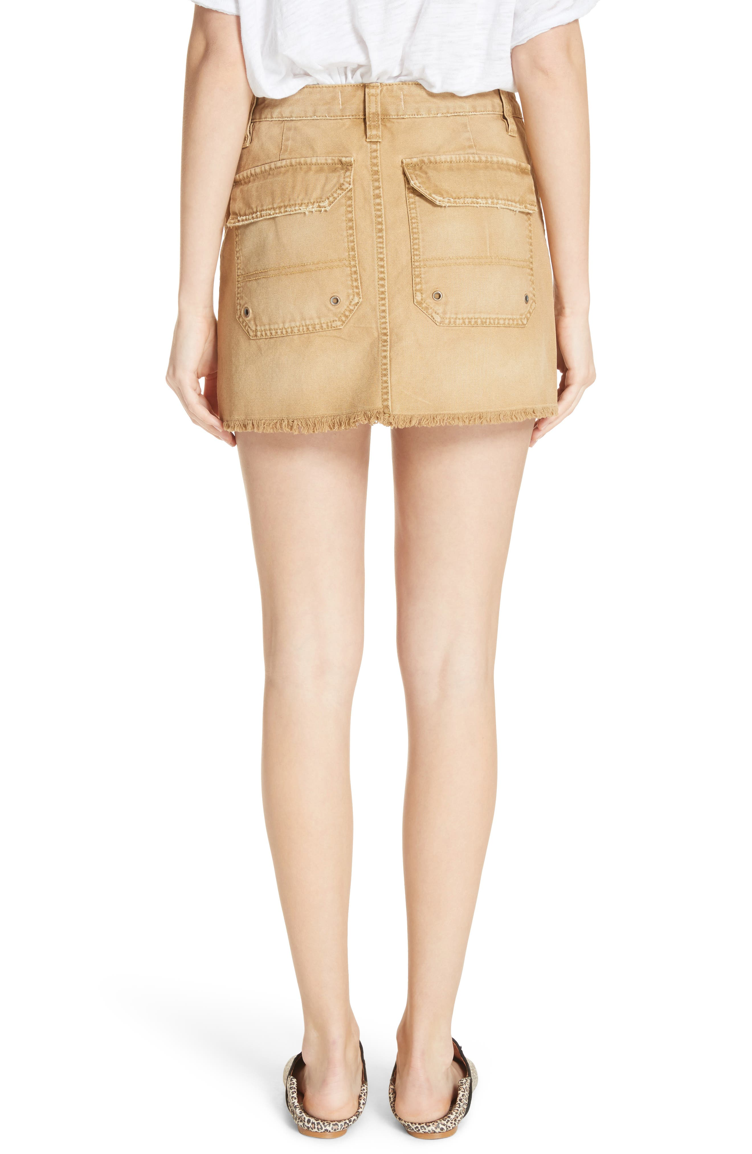 Canvas Miniskirt,                             Alternate thumbnail 4, color,