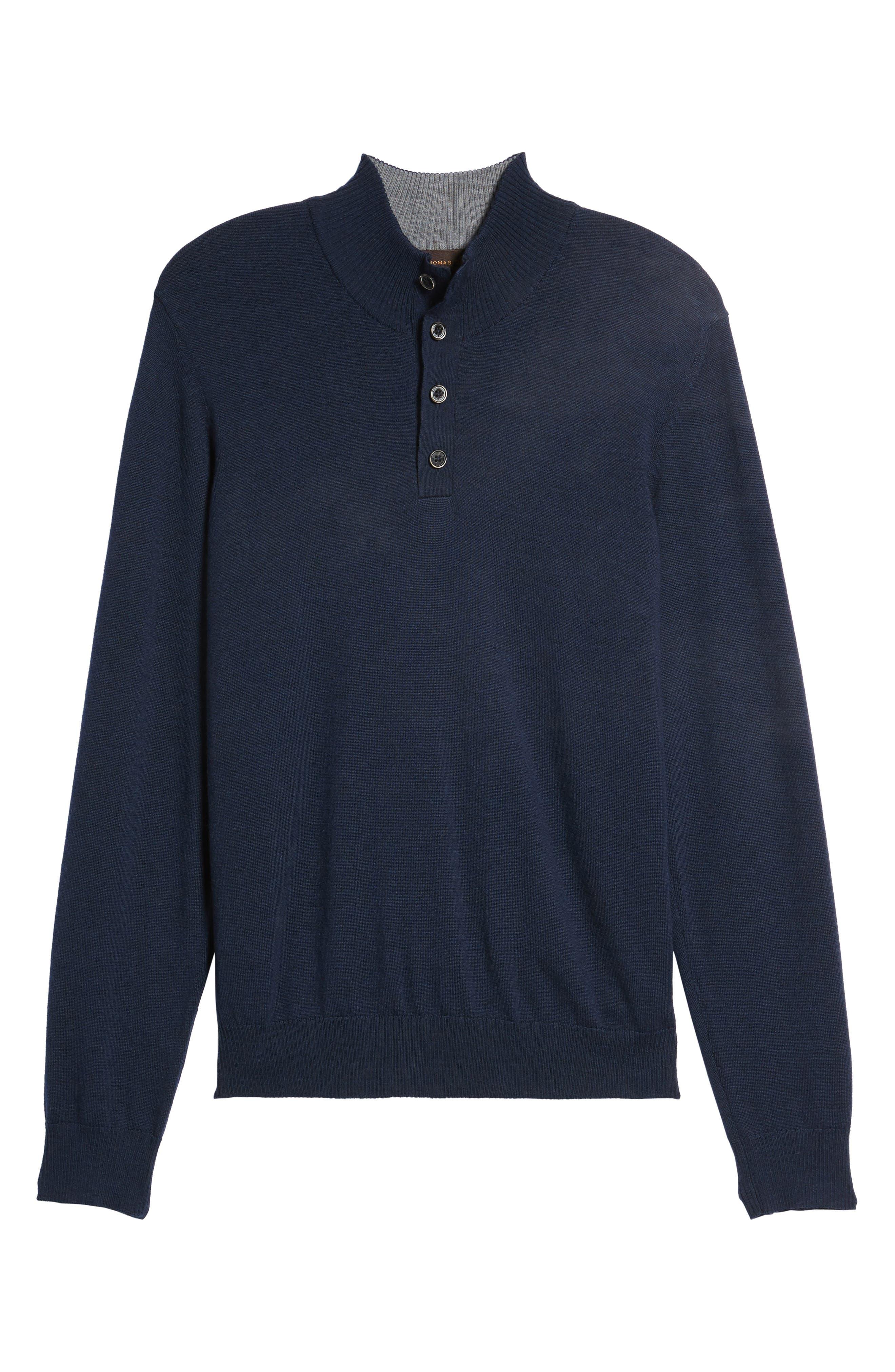 Merino Wool Blend Mock Neck Sweater,                             Alternate thumbnail 18, color,