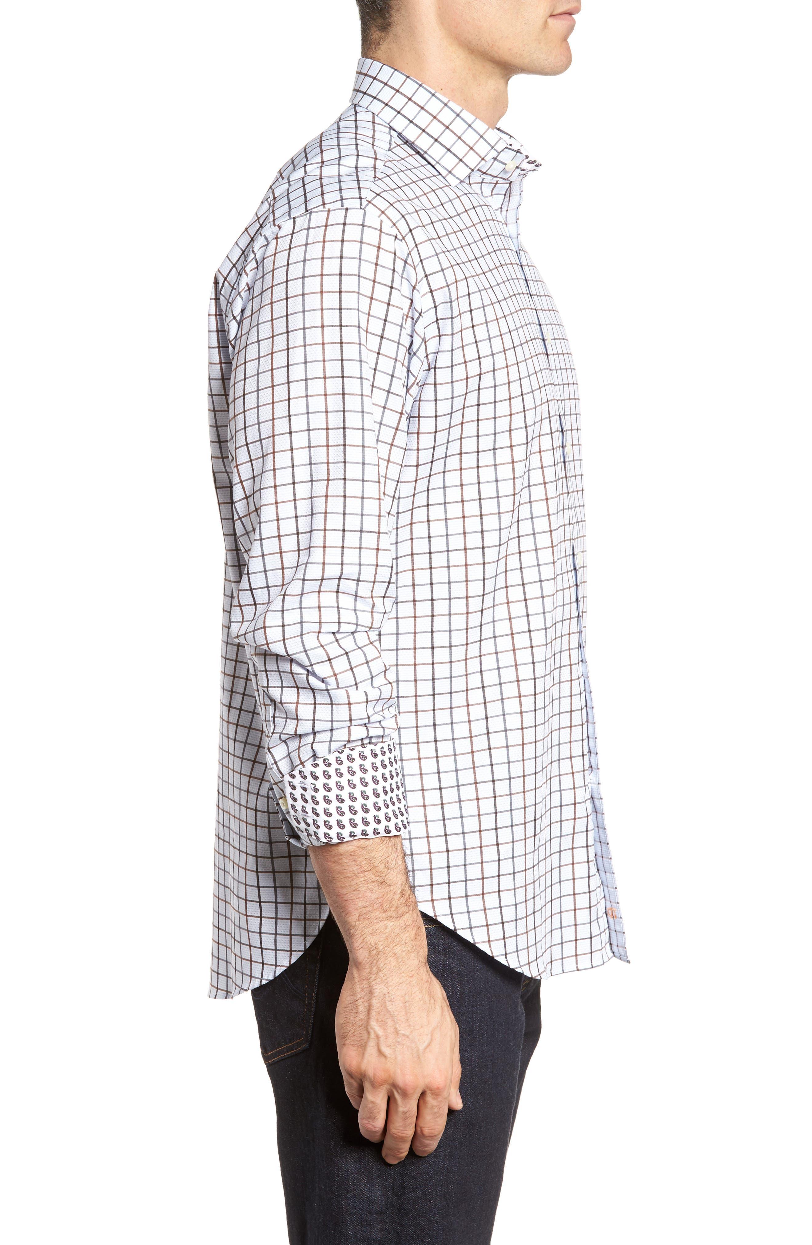 Regular Fit Check Sport Shirt,                             Alternate thumbnail 3, color,                             200