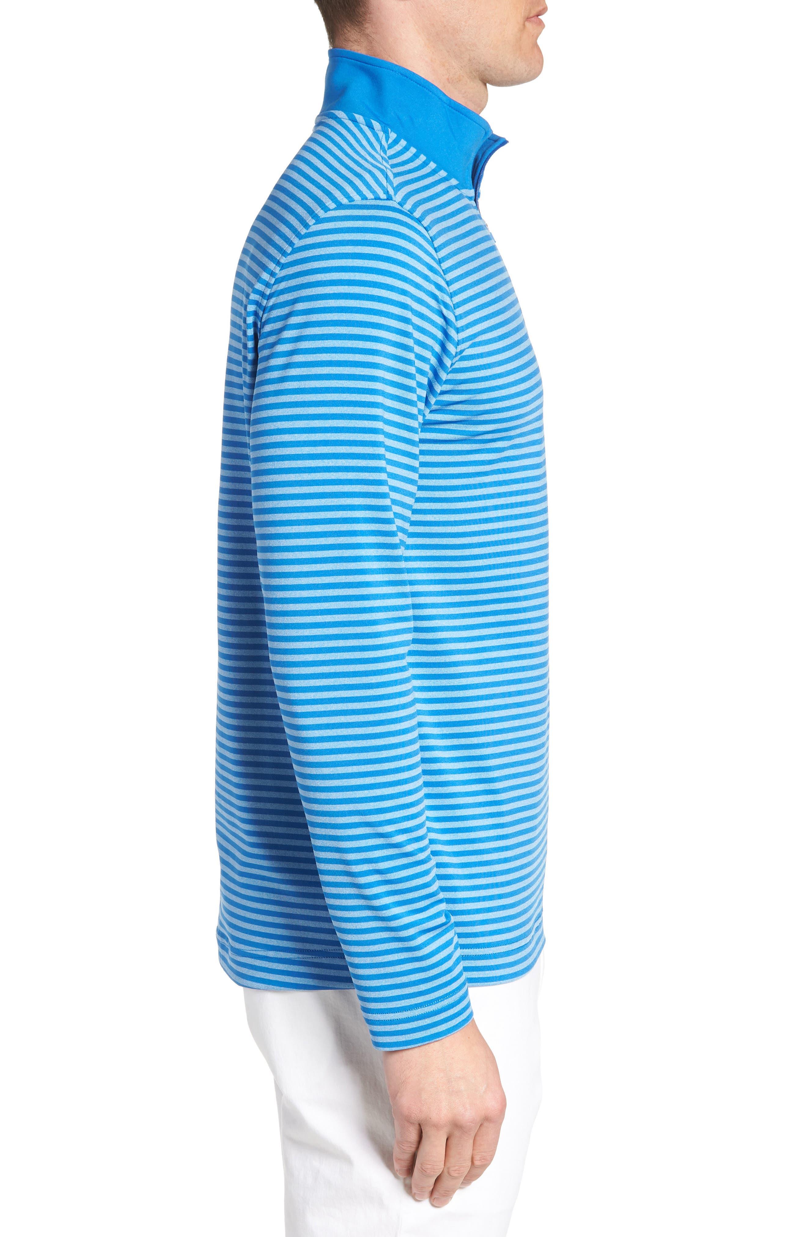 SOUTHERN TIDE,                             Stripe Quarter Zip Pullover,                             Alternate thumbnail 3, color,                             400