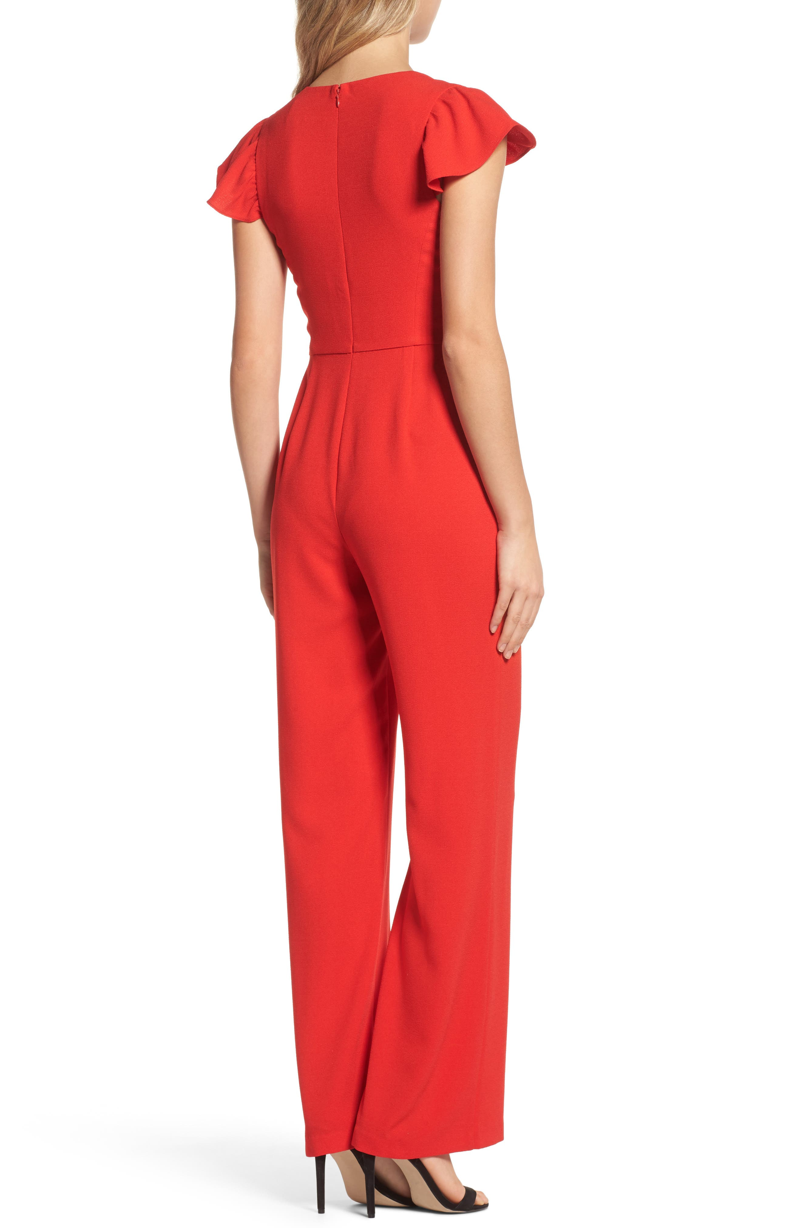 Ruffle Sleeve Jumpsuit,                             Alternate thumbnail 2, color,                             620
