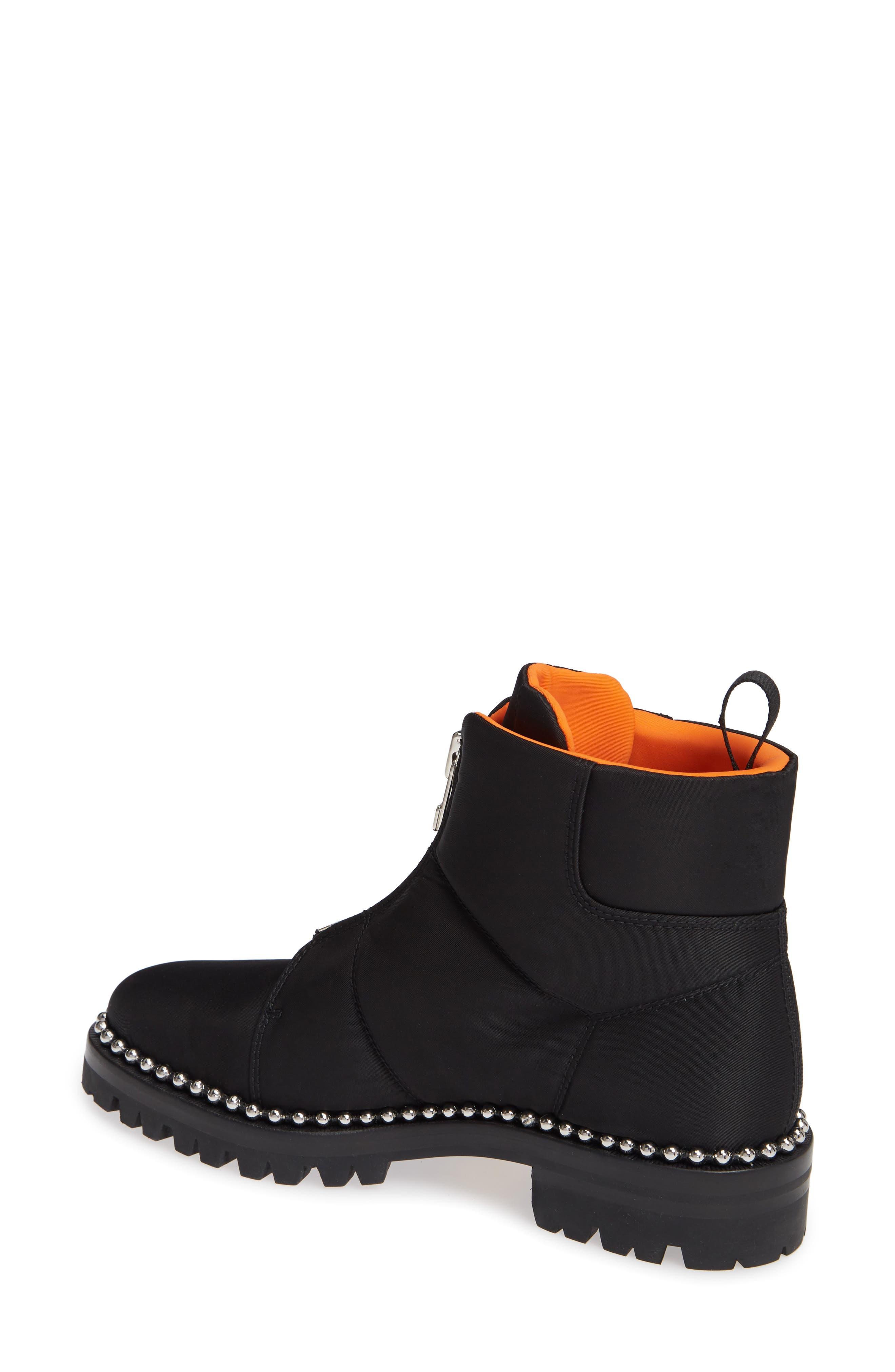 Cooper Studded Boot,                             Alternate thumbnail 2, color,                             BLACK