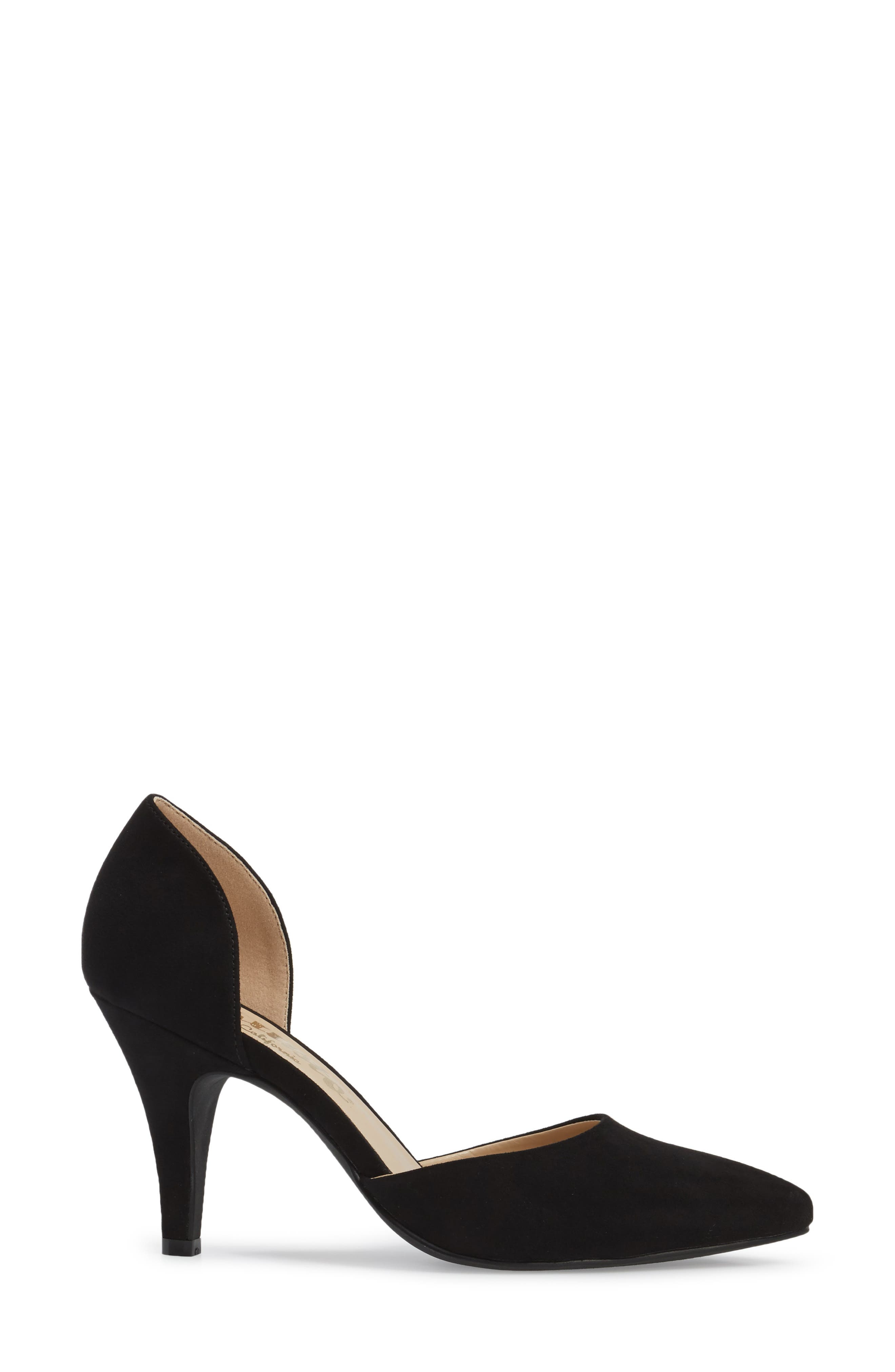 Felicitas d'Orsay Pump,                             Alternate thumbnail 3, color,                             BLACK SYNTHETIC