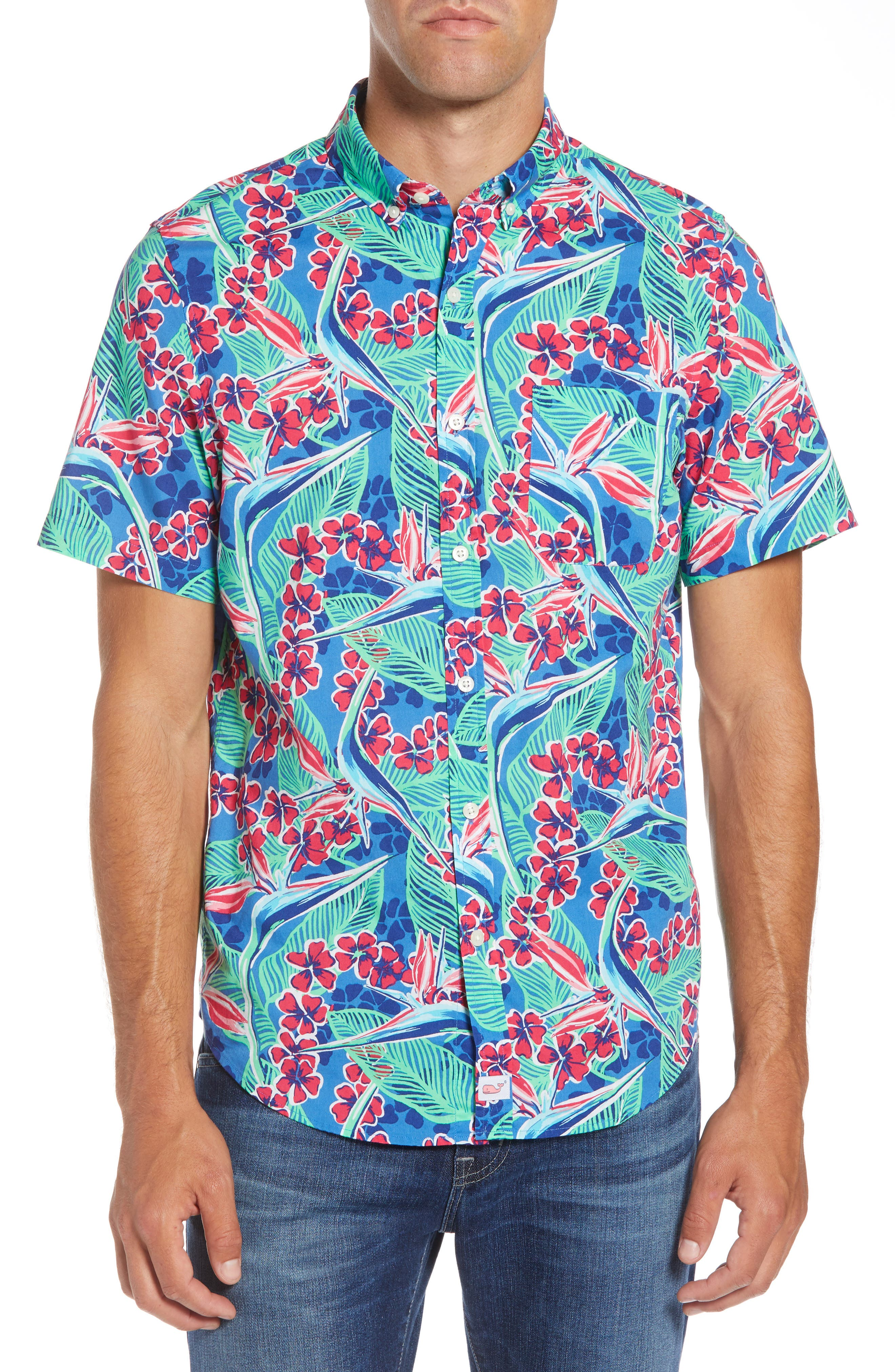 Murray Slim Fit Floral Sport Shirt,                             Main thumbnail 1, color,                             400