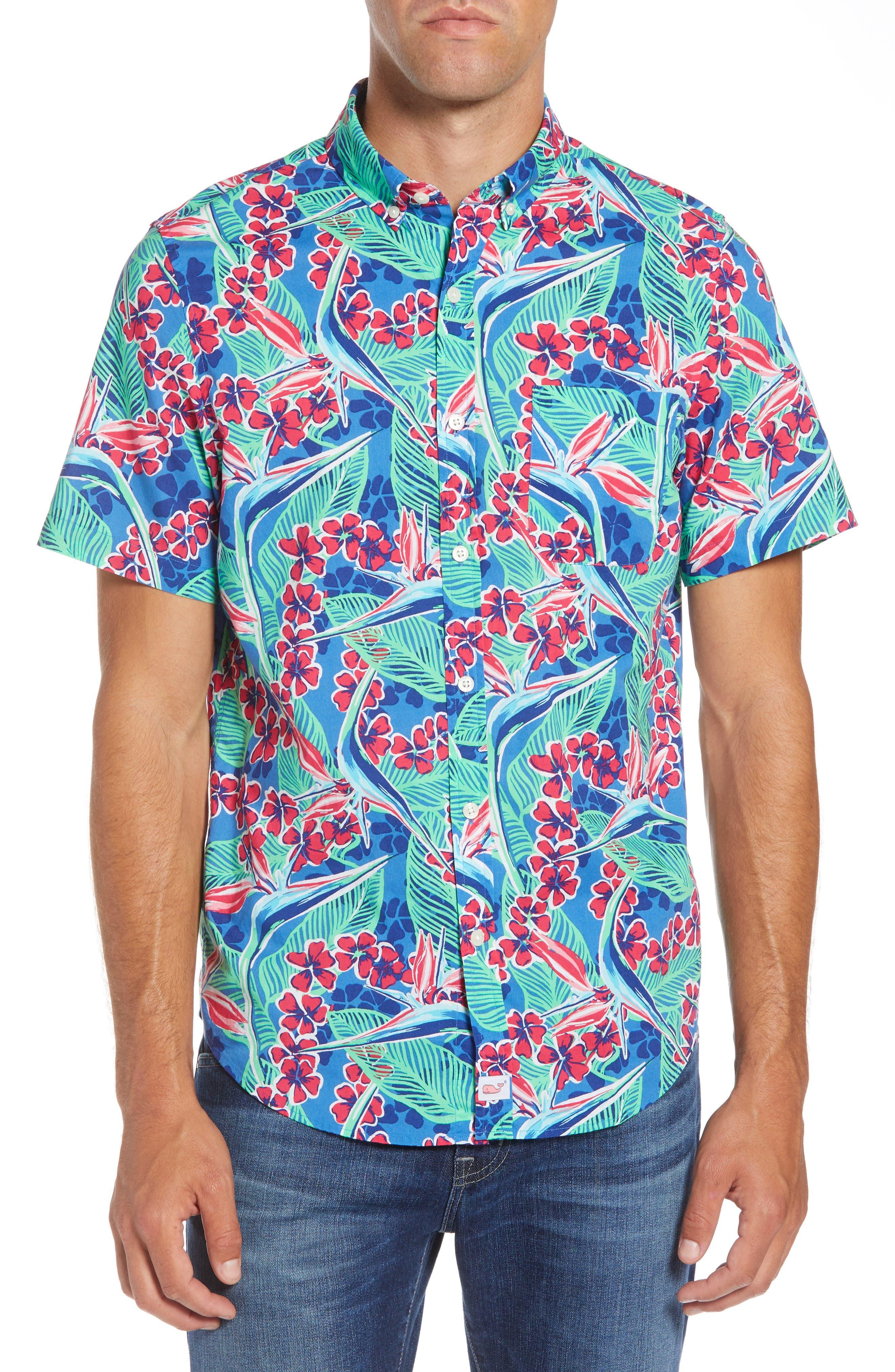 Murray Slim Fit Floral Sport Shirt,                         Main,                         color, 400
