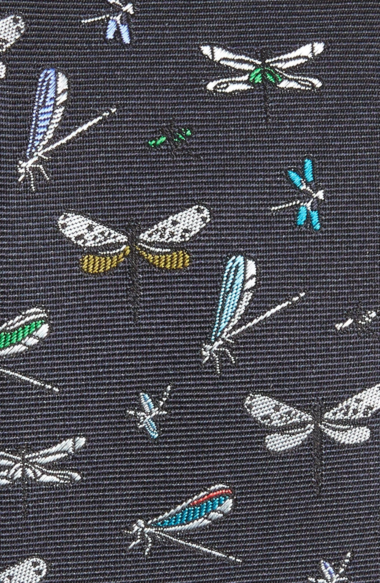 Dragonfly Silk Tie,                             Alternate thumbnail 2, color,                             410