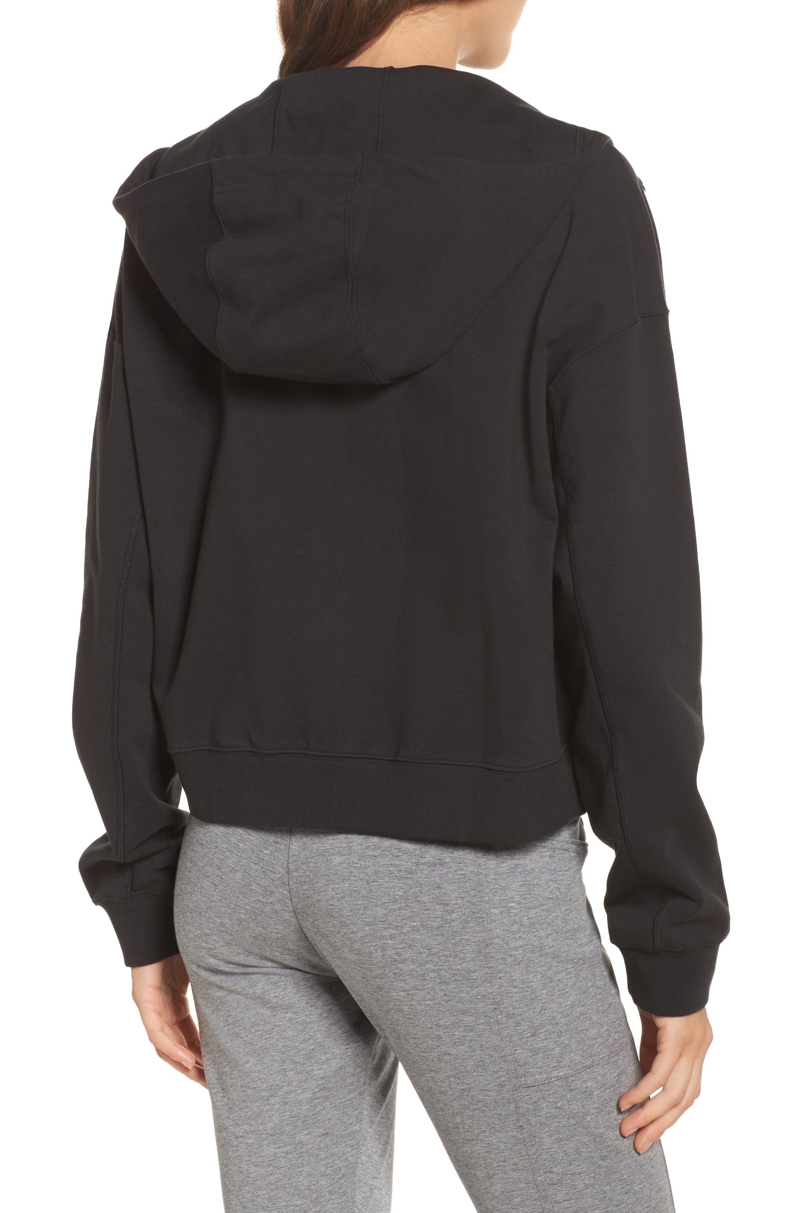 NikeLab Essentials Women's Zip Hoodie,                             Alternate thumbnail 2, color,                             BLACK/ BLACK