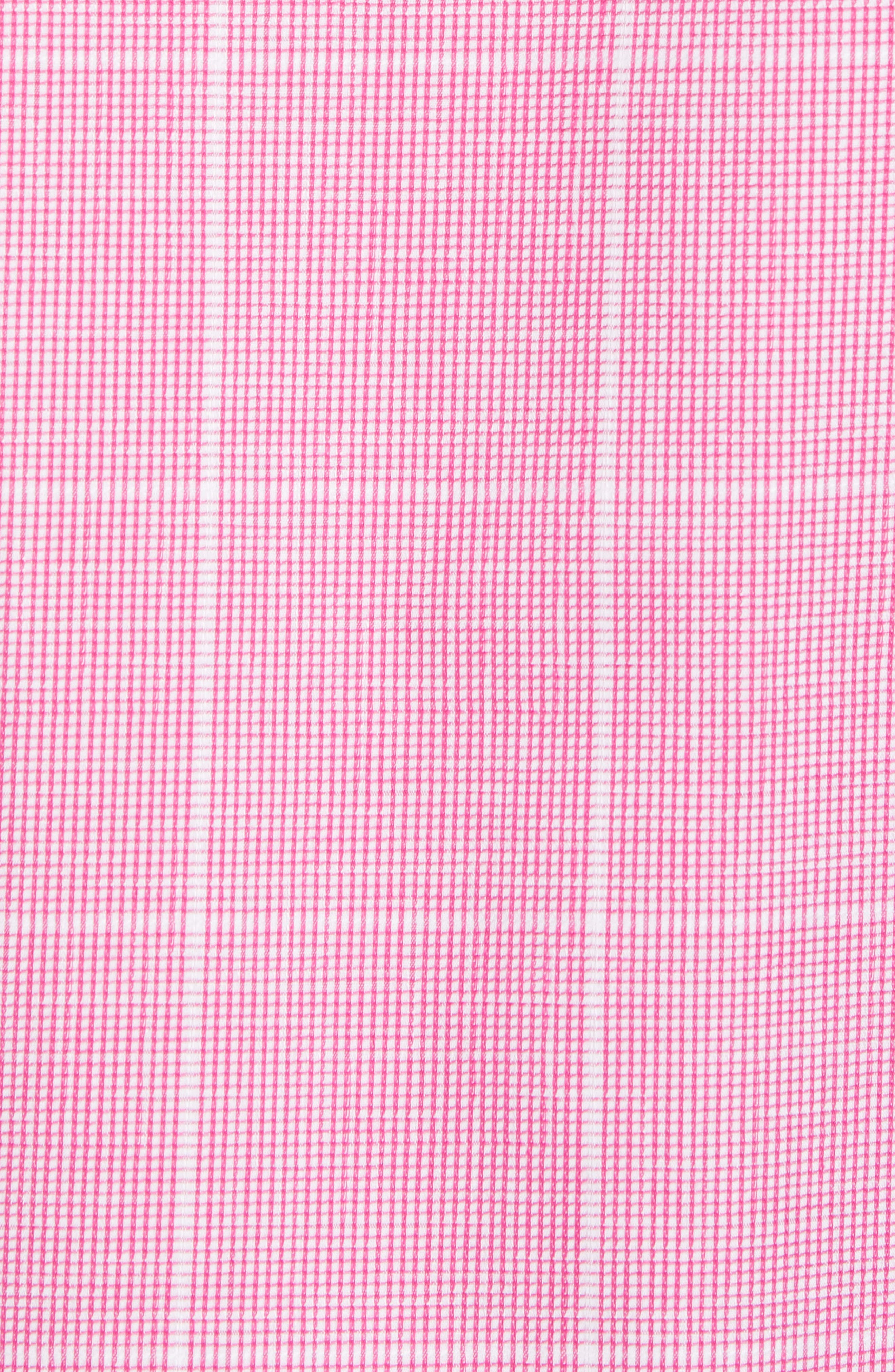 Classic Fit Check Sport Shirt,                             Alternate thumbnail 5, color,                             BERRY
