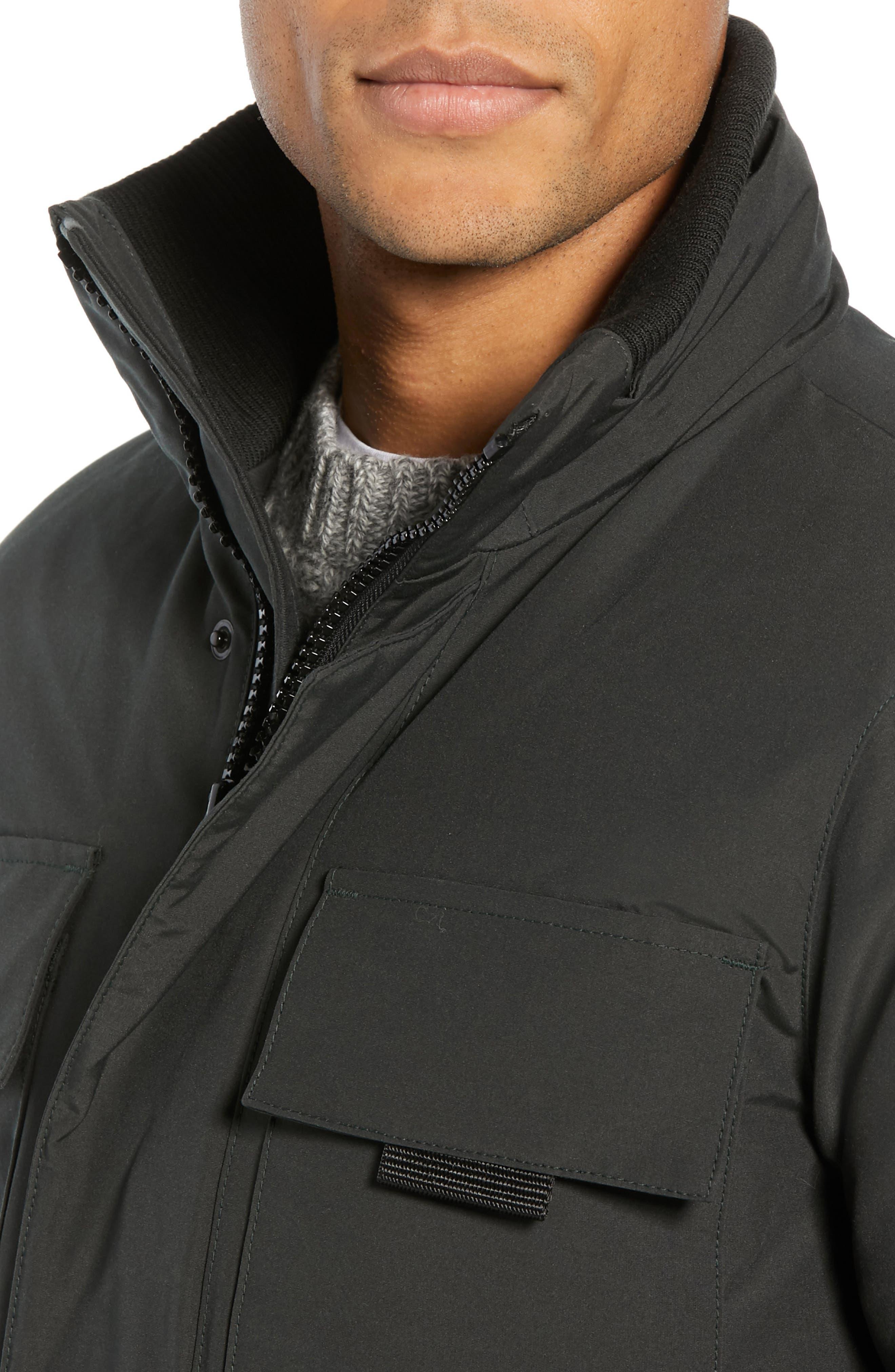 CANADA GOOSE,                             Forester Slim Fit Jacket,                             Alternate thumbnail 4, color,                             BLACK
