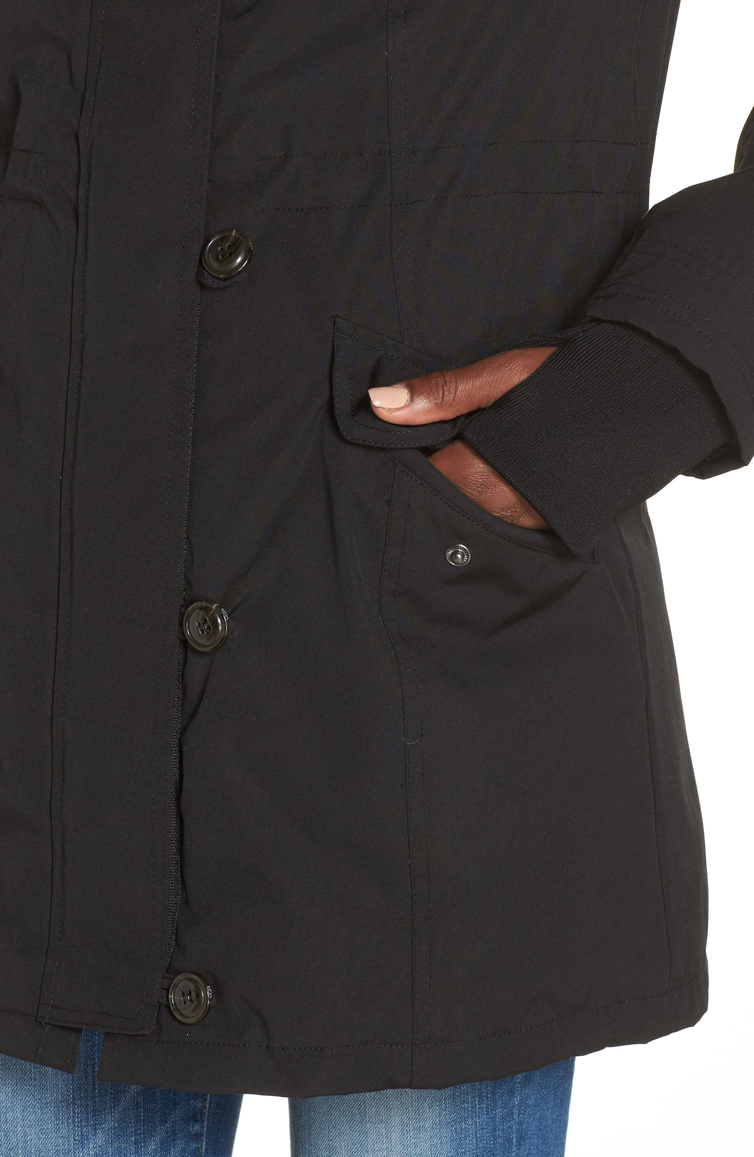 Adirondack Down Parka,                             Alternate thumbnail 6, color,                             BLACK