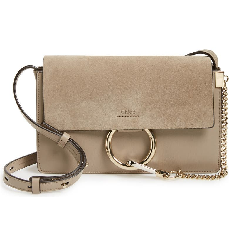 Small Faye Leather Shoulder Bag