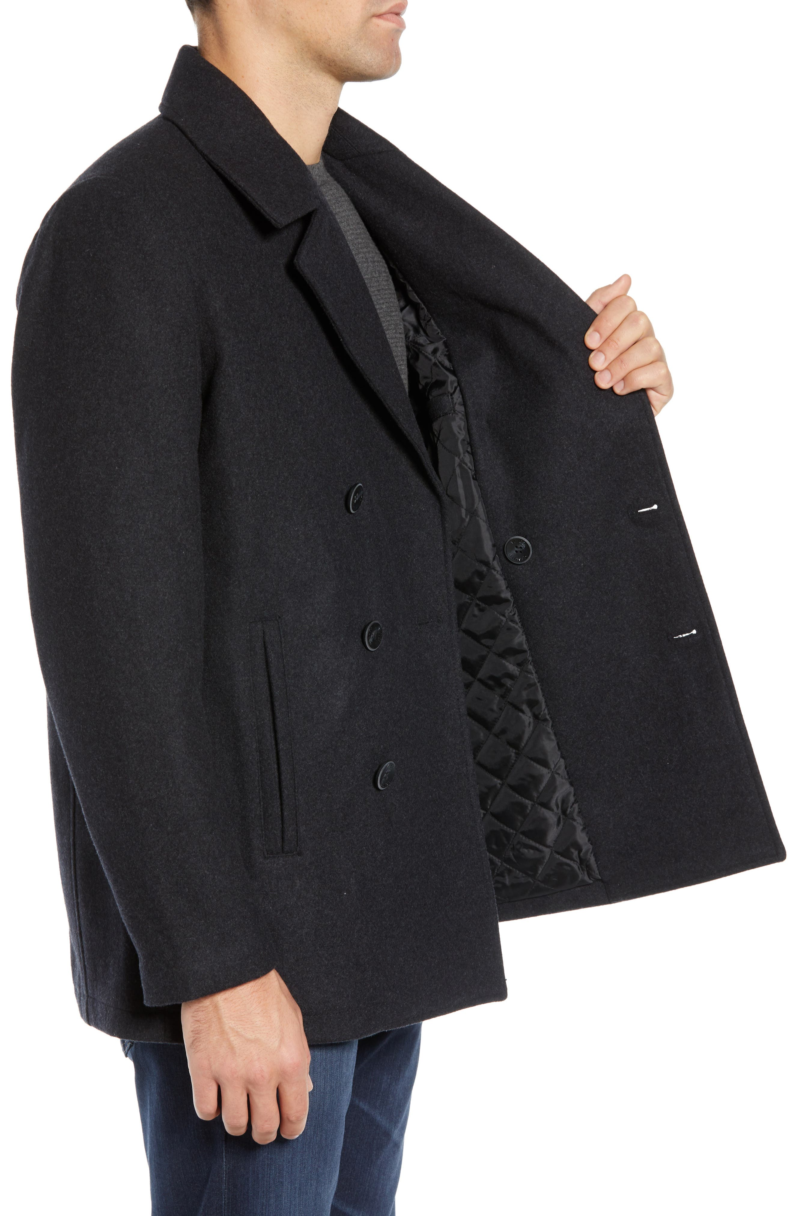 Classic Peacoat,                             Alternate thumbnail 4, color,                             CHARCOAL