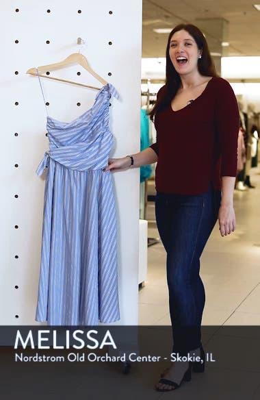 Cabrera Stripe One-Shoulder Dress, sales video thumbnail