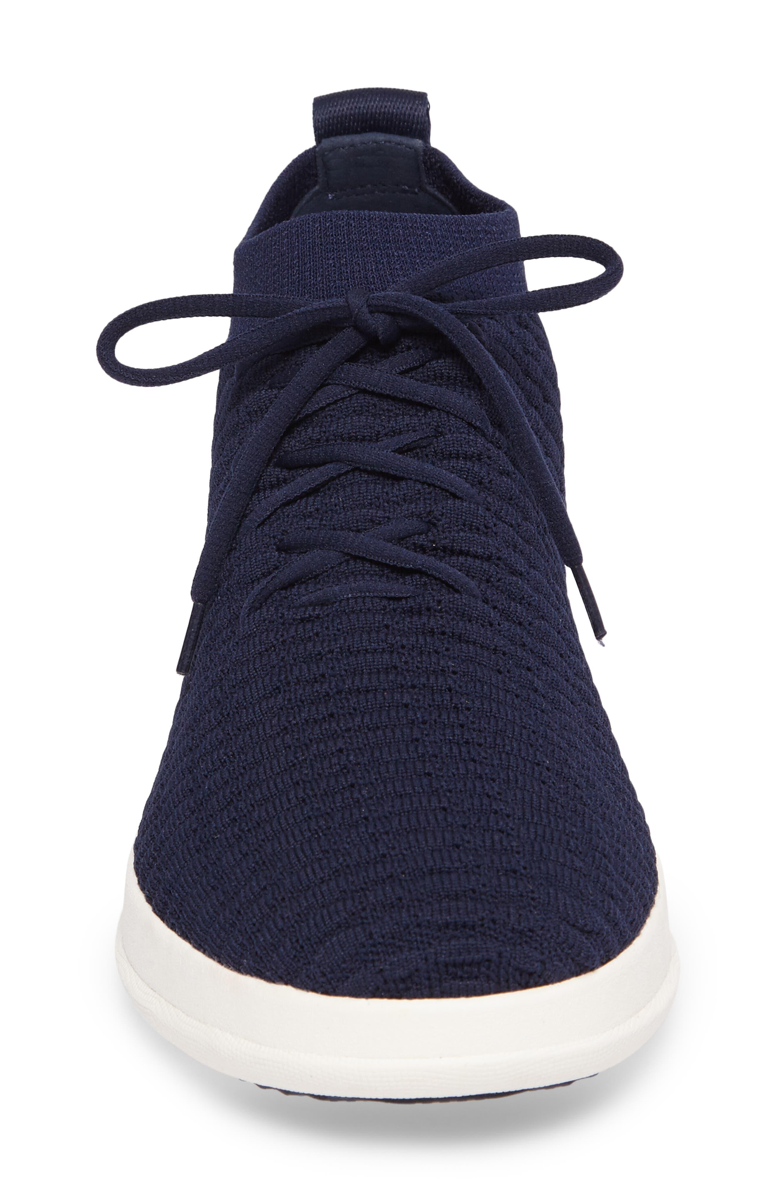 Uberknit Sneaker,                             Alternate thumbnail 4, color,                             DARK SAPPHIRE TEXTILE
