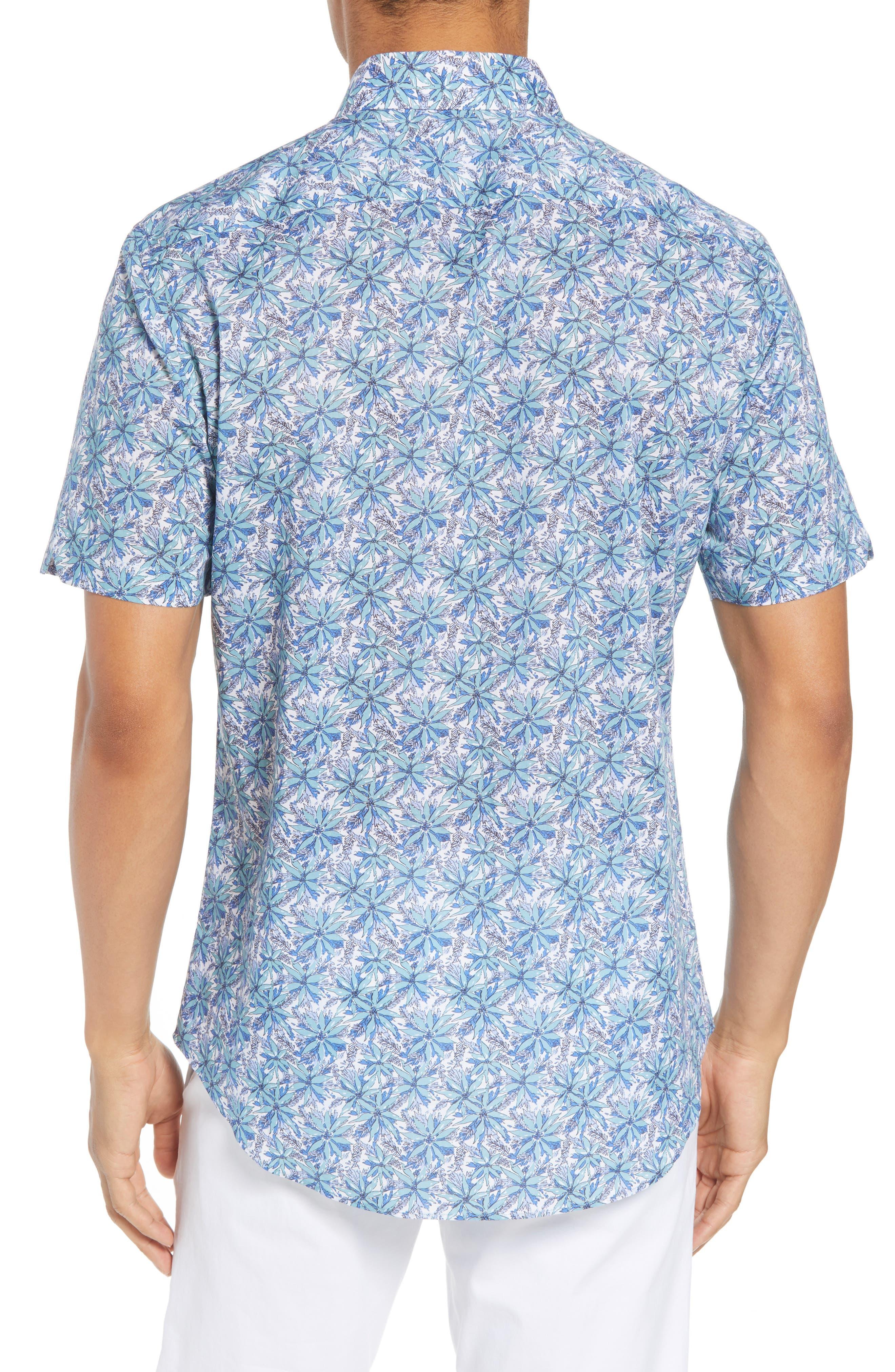 Goelzer Regular Fit Sport Shirt,                             Alternate thumbnail 2, color,                             AQUA