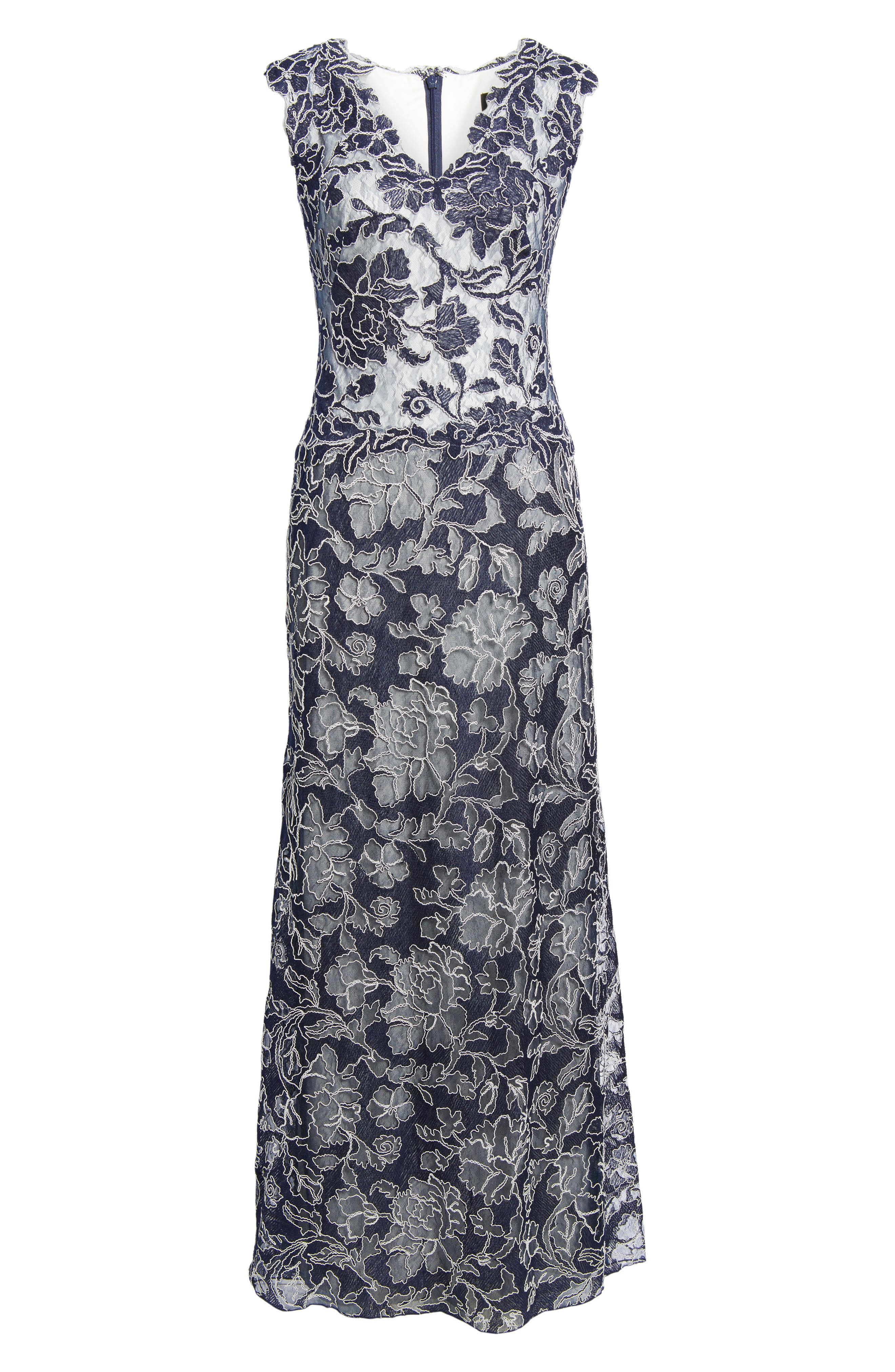 Embroidered Lace Gown,                         Main,                         color, 428