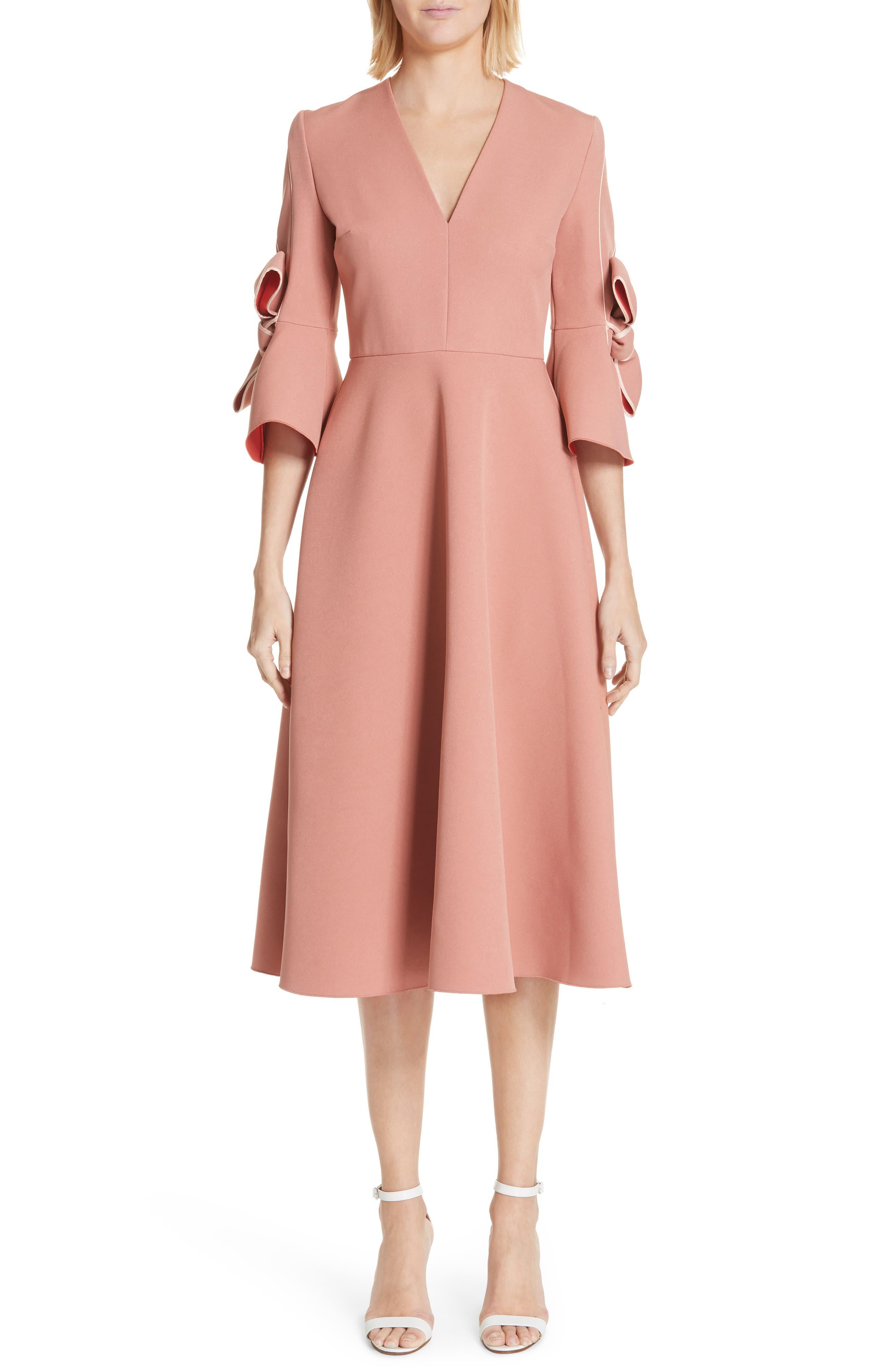 Sibella Bow Trim Dress,                         Main,                         color, 950