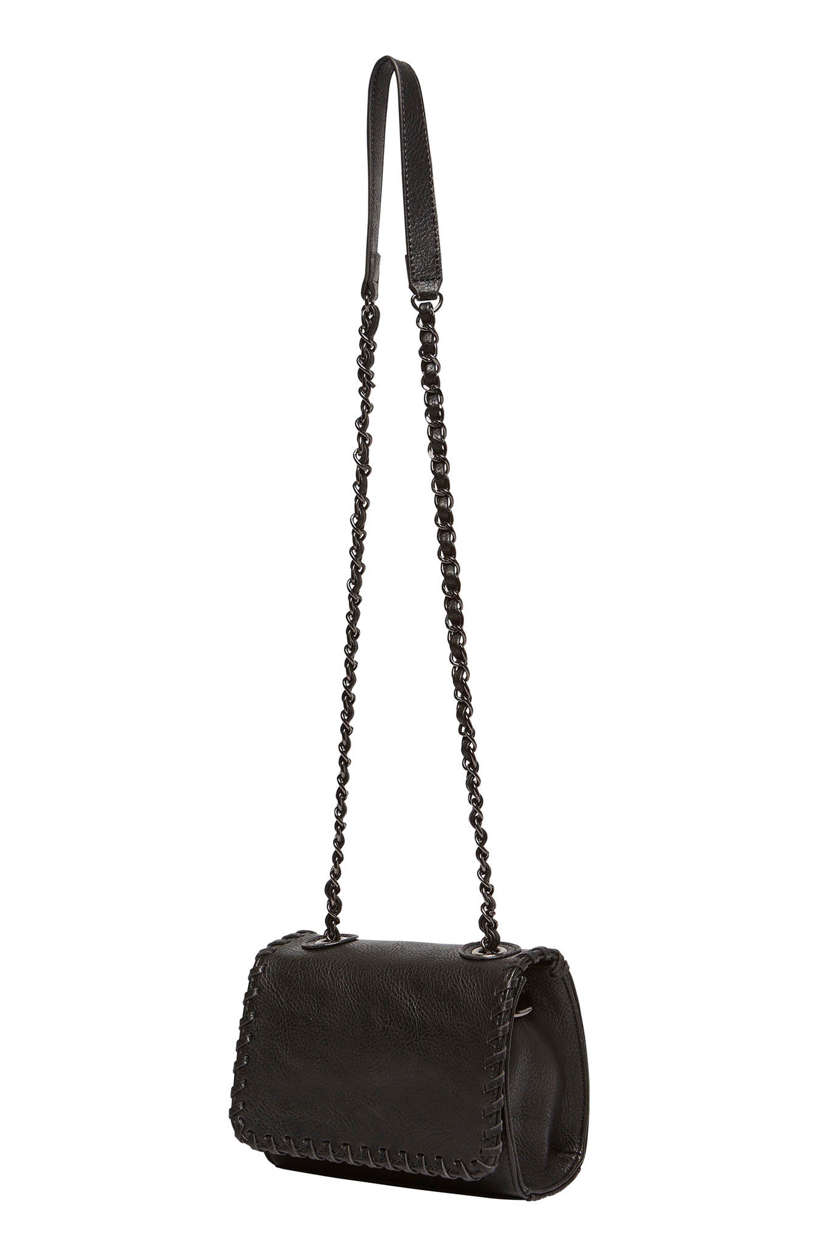 Loveliness Vegan Leather Shoulder Bag,                             Alternate thumbnail 3, color,                             001