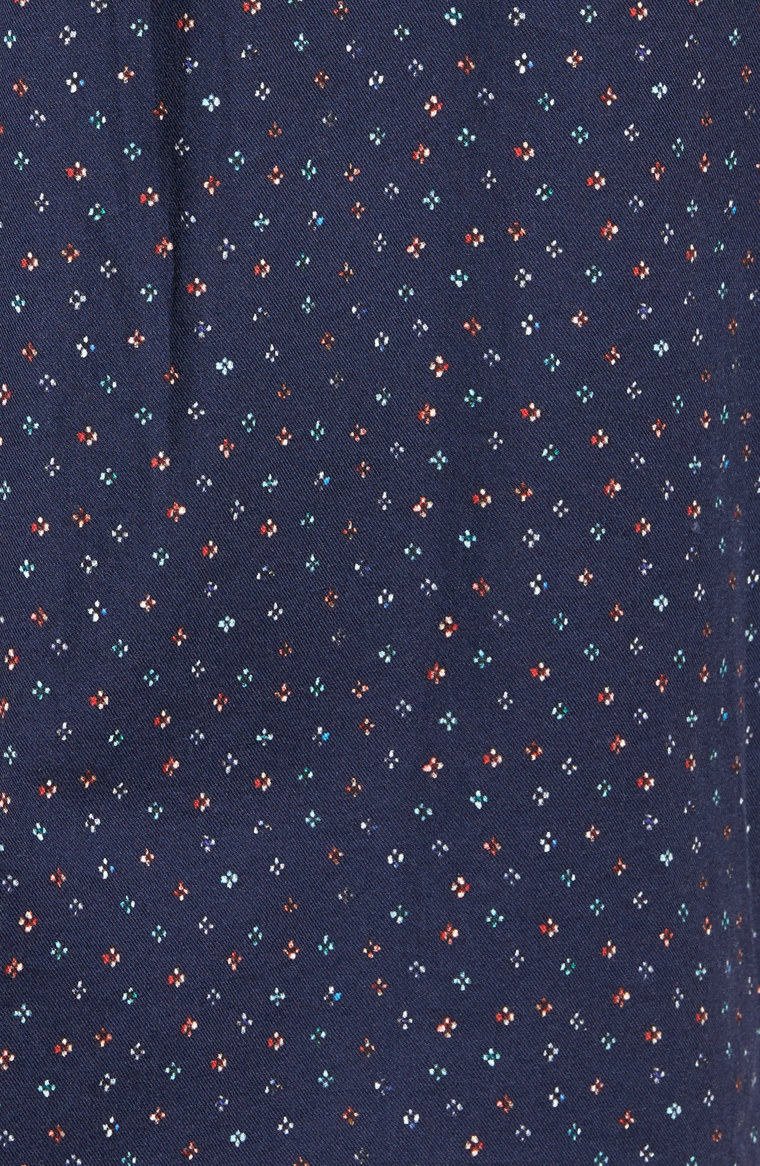Regular Fit Floral Print Sport Shirt,                             Alternate thumbnail 5, color,