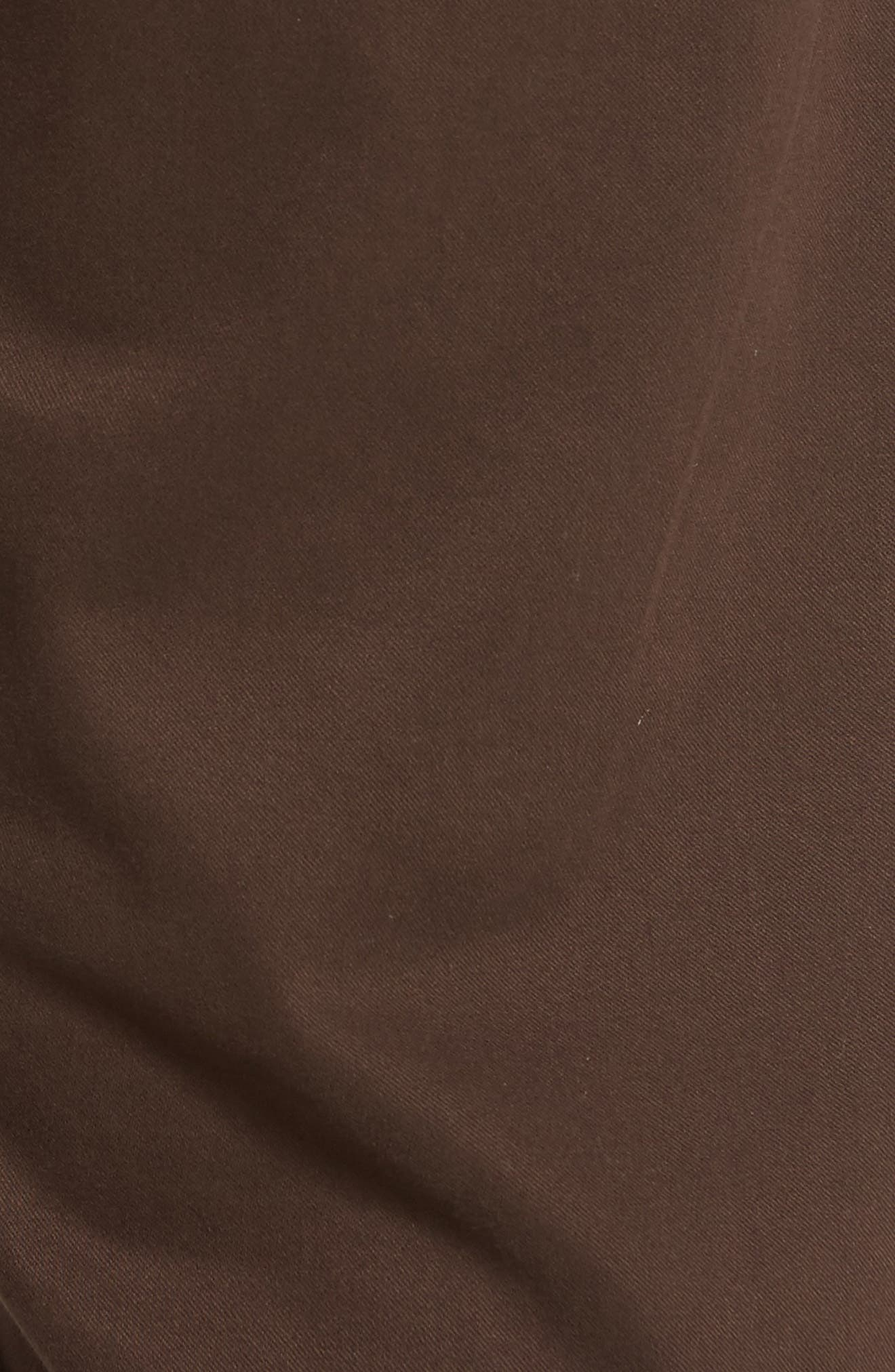 Zach Straight Fit Twill Pants,                             Alternate thumbnail 5, color,                             COFFEE BEAN TWILL