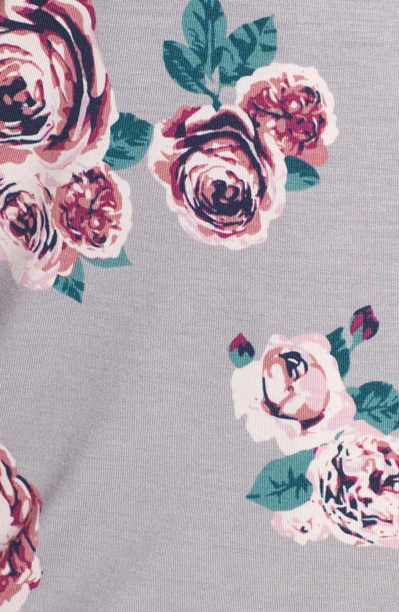 'Moonlight' Pajamas,                             Alternate thumbnail 5, color,                             GREY GULL HOLIDAY ROSE