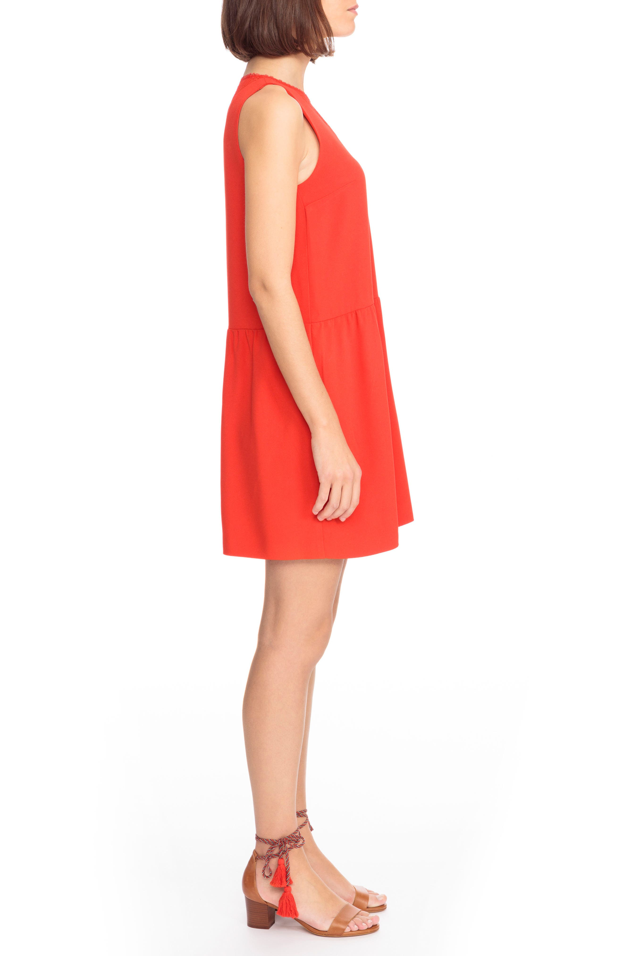 Rosalie Lace Detail Shift Dress,                             Alternate thumbnail 3, color,                             600