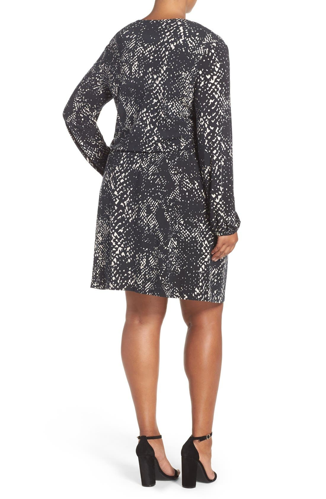 'Robby' Print Jersey V-Neck Dress,                             Alternate thumbnail 4, color,