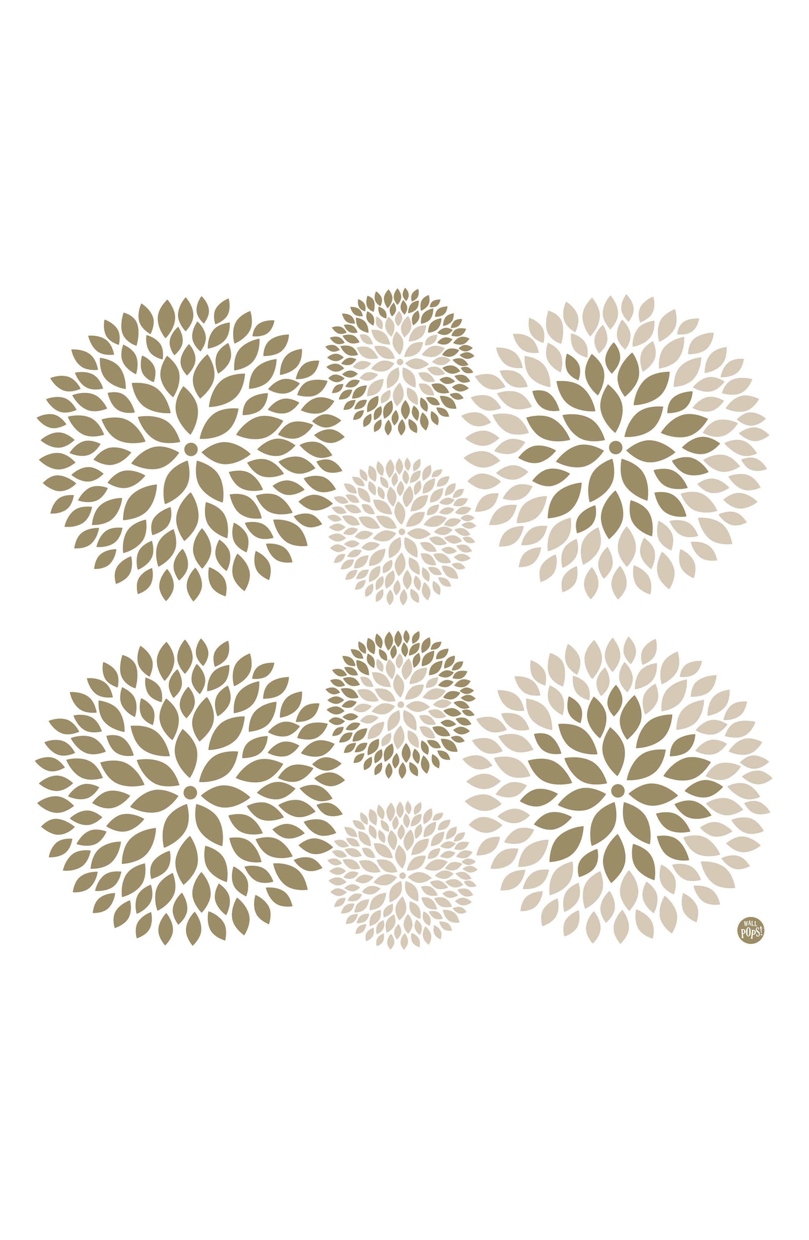 Chrysanthemum 8-Piece Wall Art Decal Set,                         Main,                         color, 250