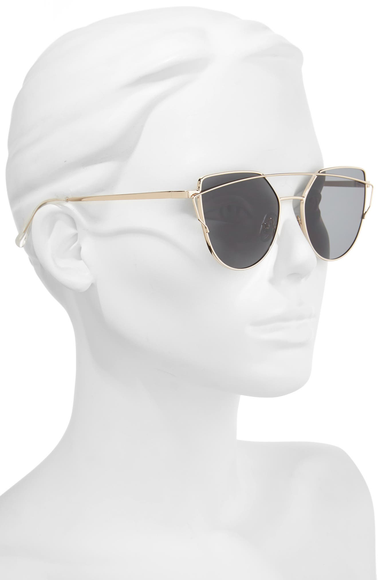 51mm Thin Brow Angular Aviator Sunglasses,                             Alternate thumbnail 15, color,