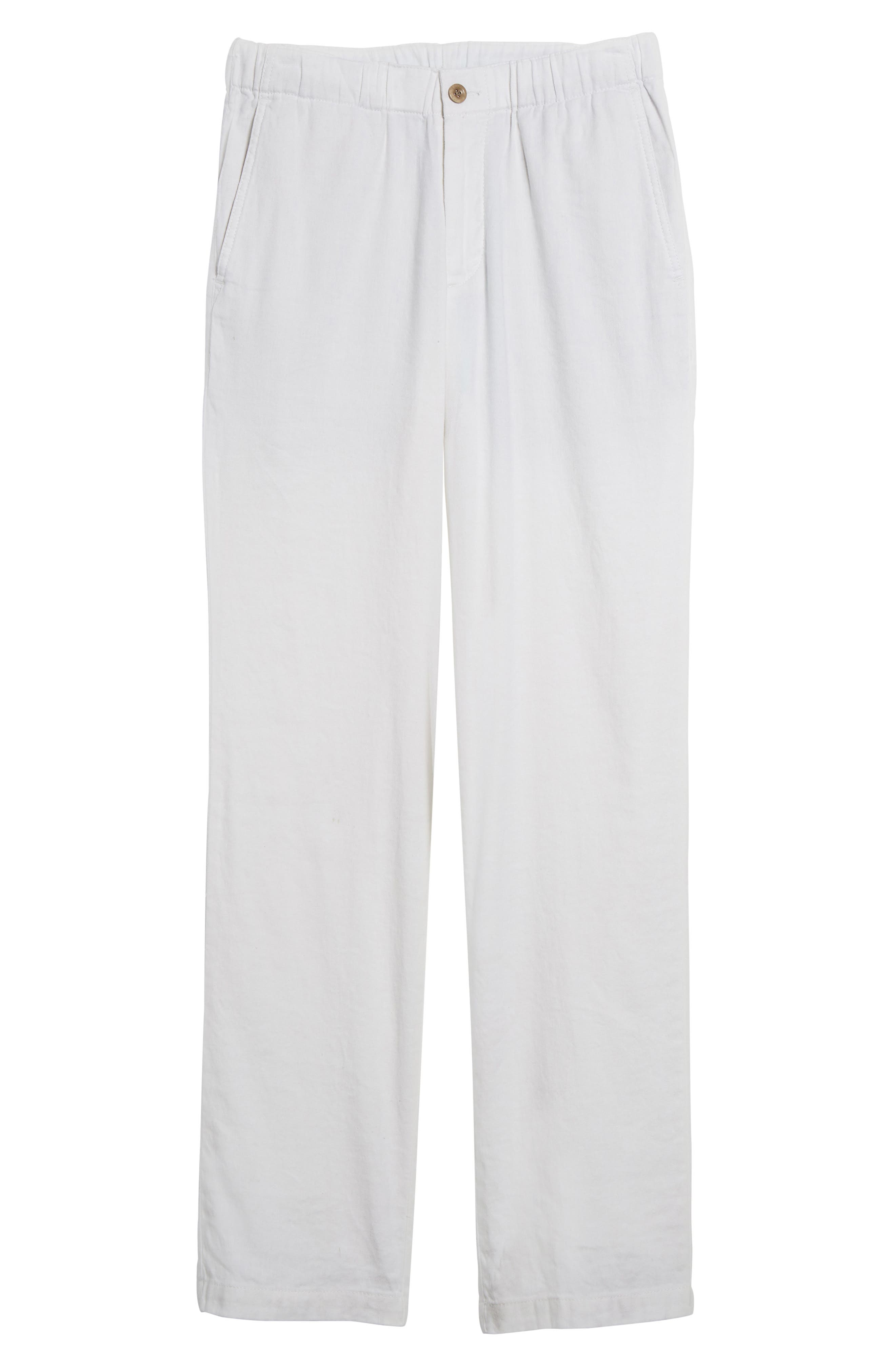 Relaxed Linen Pants,                             Alternate thumbnail 6, color,                             CONTINENTAL