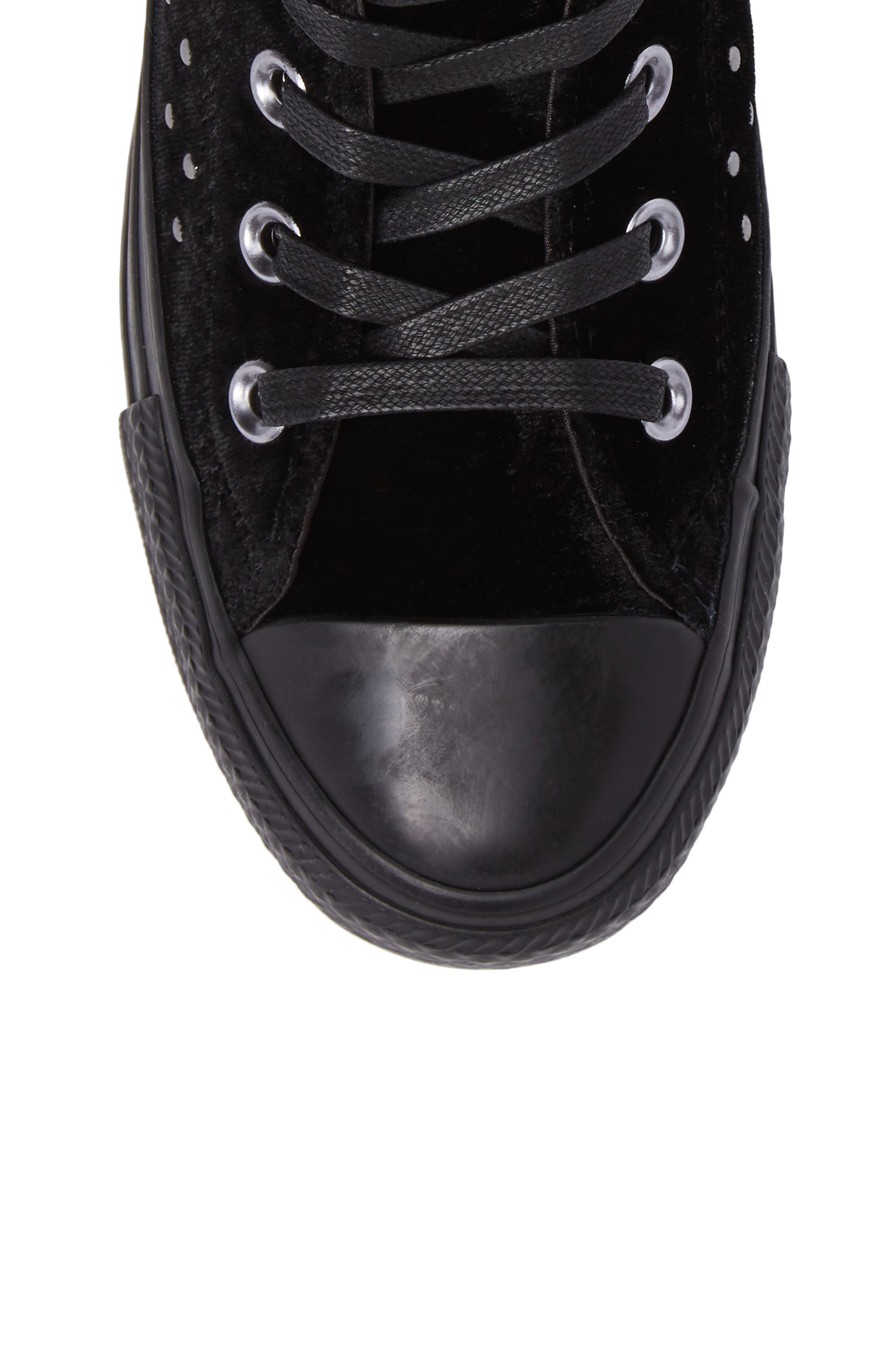 Chuck Taylor<sup>®</sup> All Star<sup>®</sup> Studded High Top Sneakers,                             Alternate thumbnail 5, color,                             001
