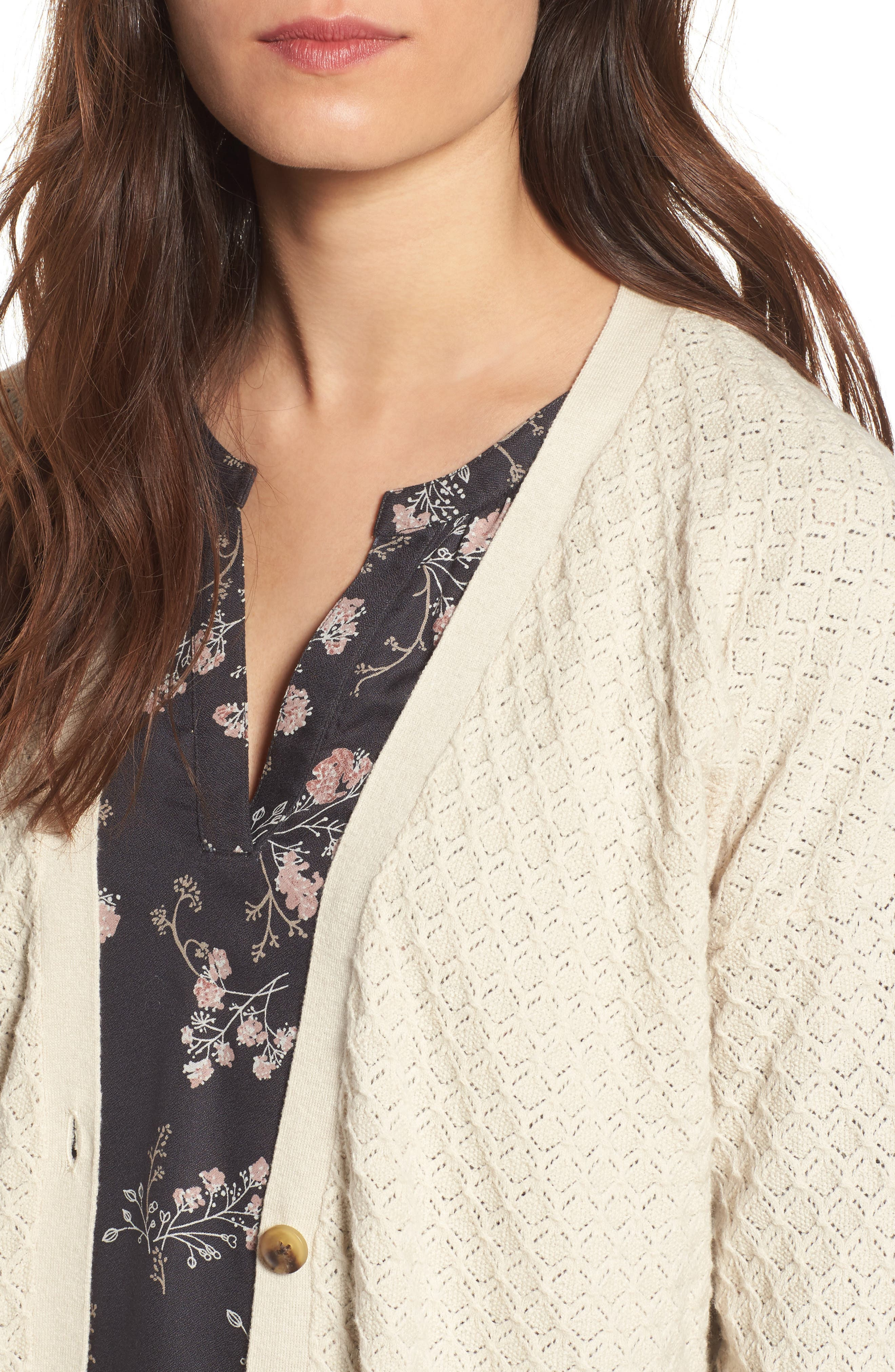 Pointelle Cardigan Sweater,                             Alternate thumbnail 14, color,