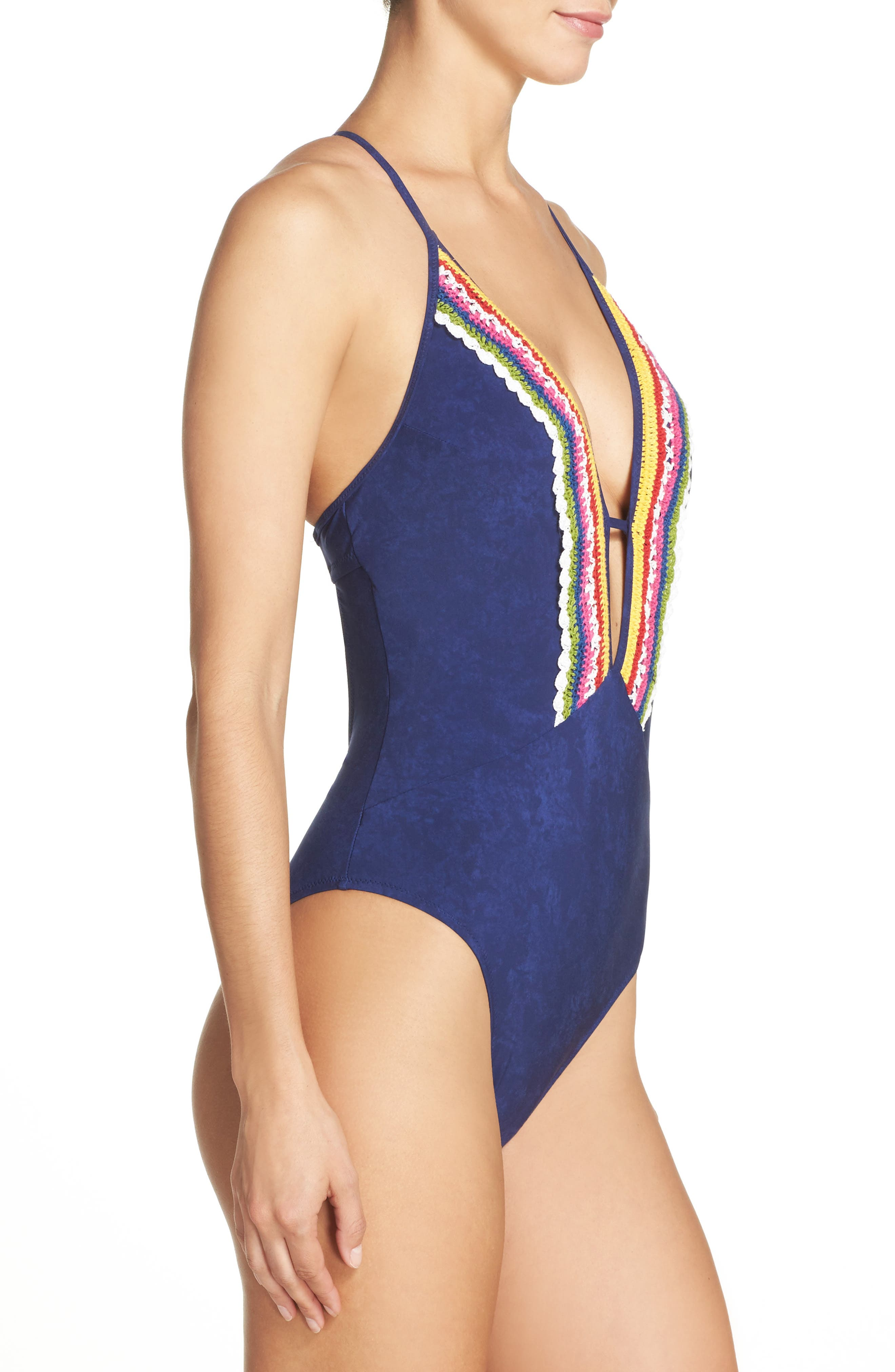 Peace Love One-Piece Swimsuit,                             Alternate thumbnail 3, color,                             402