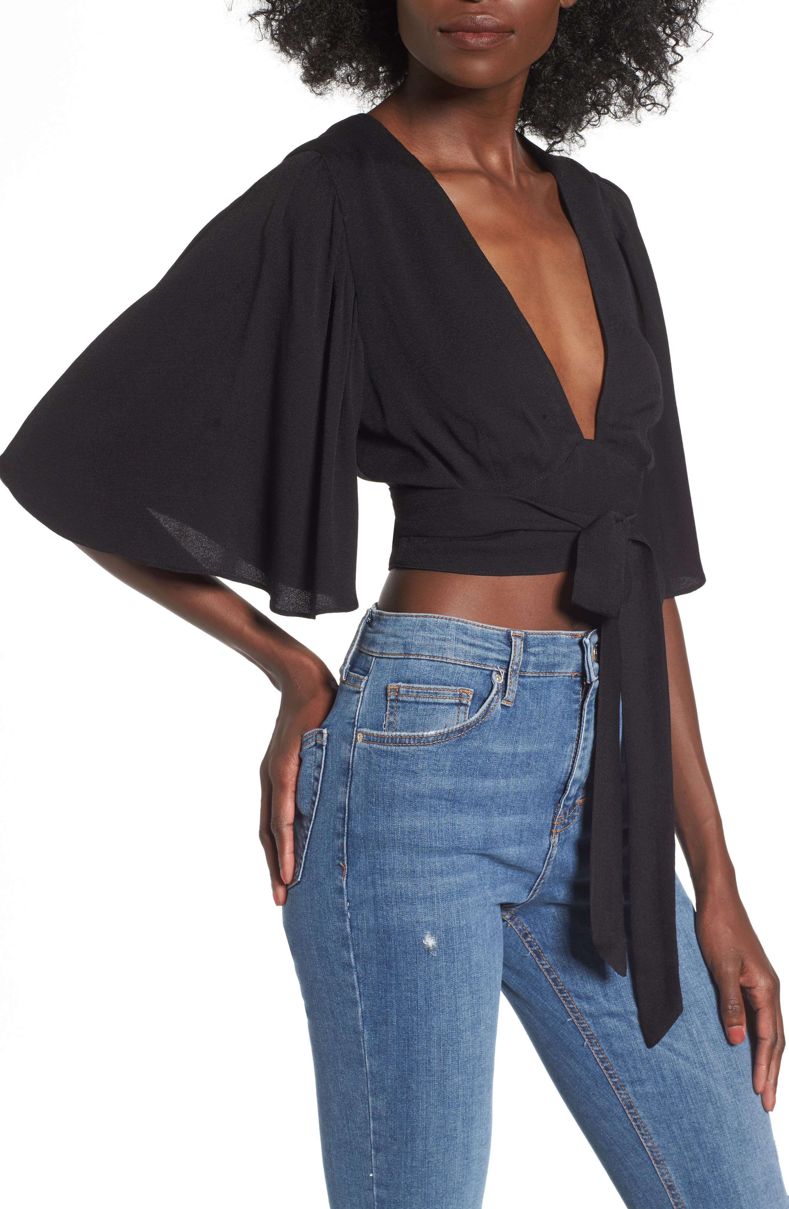 Willow Wrap Top,                         Main,                         color, 001