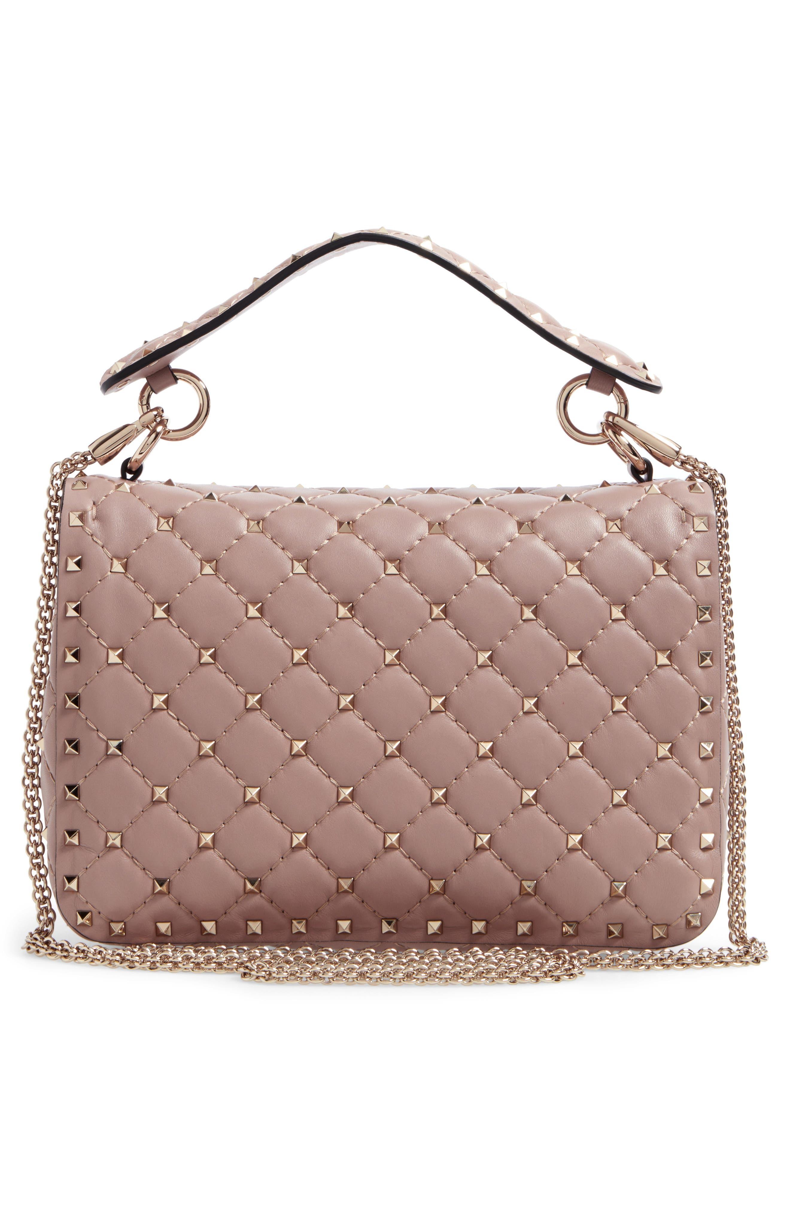 Medium Rockstud Spike Crossbody Bag,                             Alternate thumbnail 6, color,