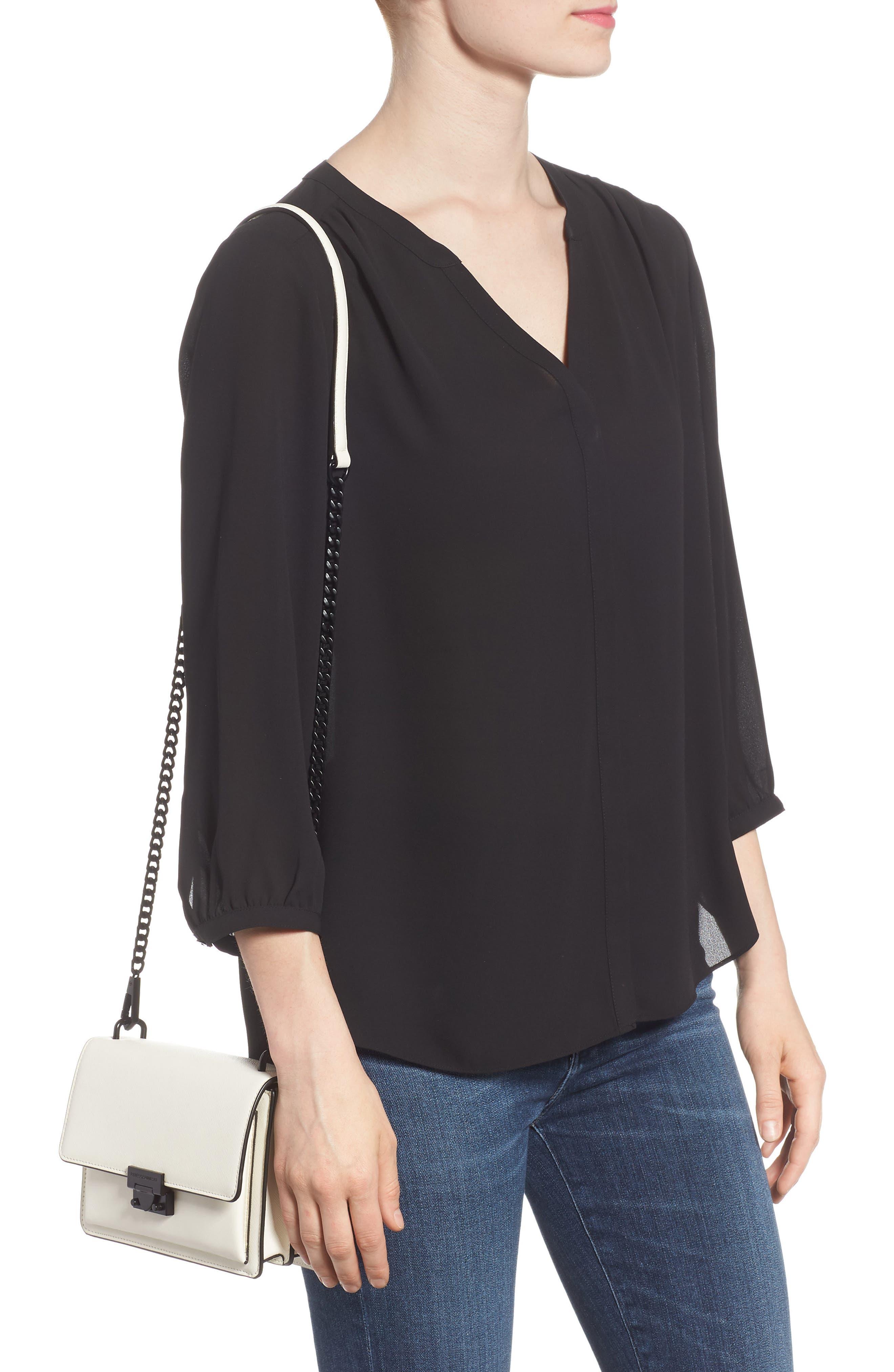 Medium Christy Leather Shoulder Bag,                             Alternate thumbnail 6, color,