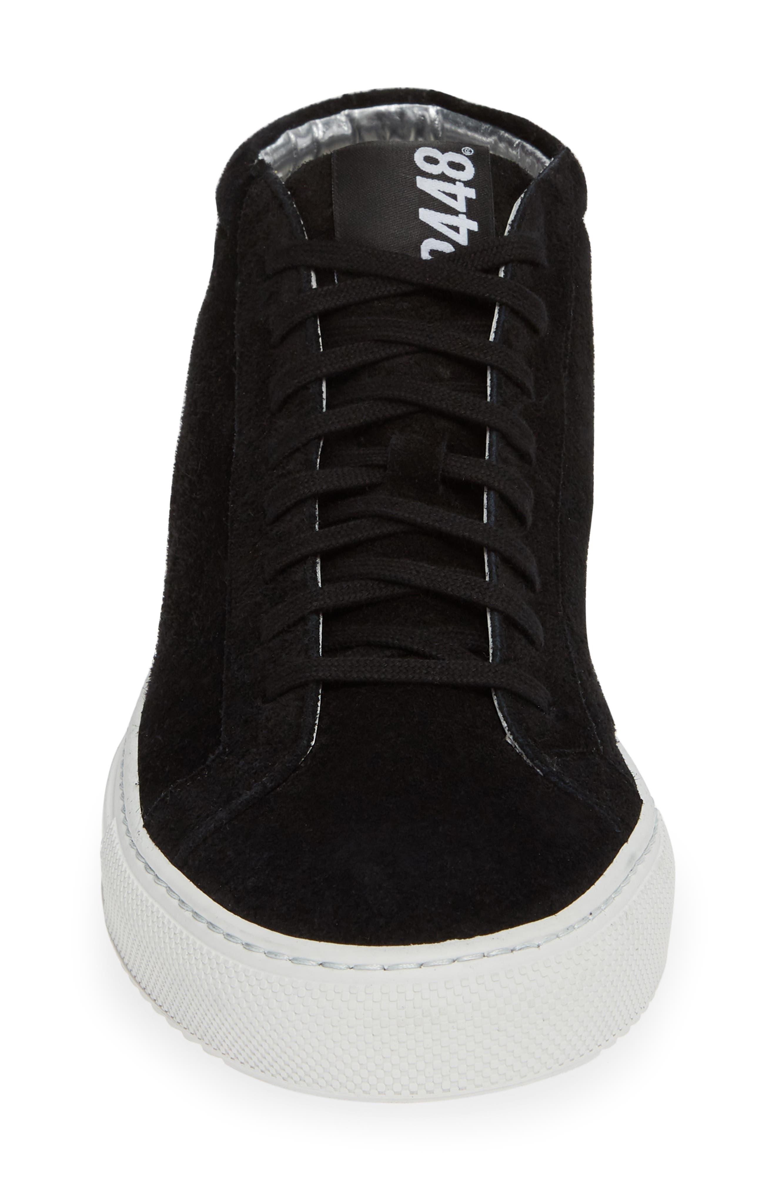A8Elevent Mid Sneaker,                             Alternate thumbnail 4, color,                             BLACK BRUSH