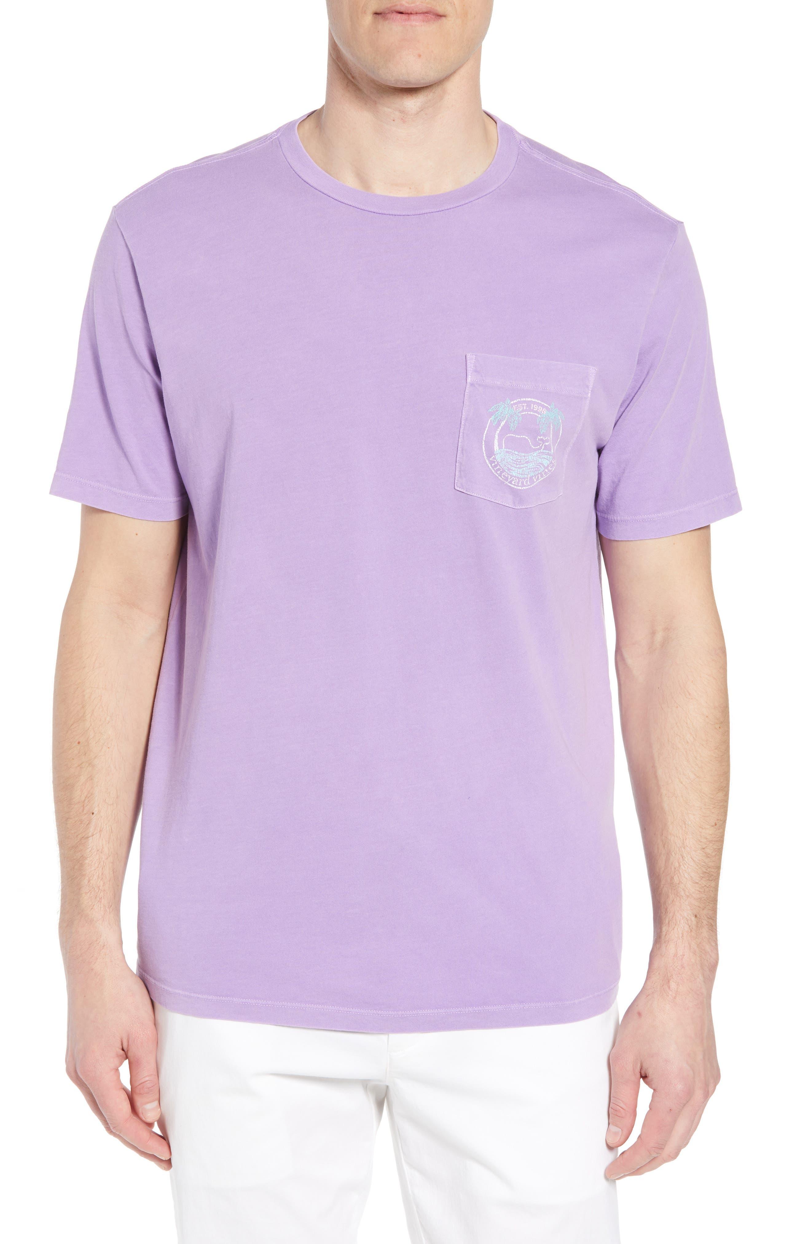 Tropical Crest Pima Cotton Pocket T-Shirt,                             Main thumbnail 1, color,