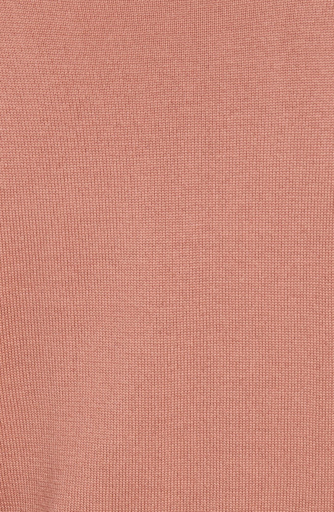 Tie Front Turtleneck Sweater,                             Alternate thumbnail 5, color,                             682