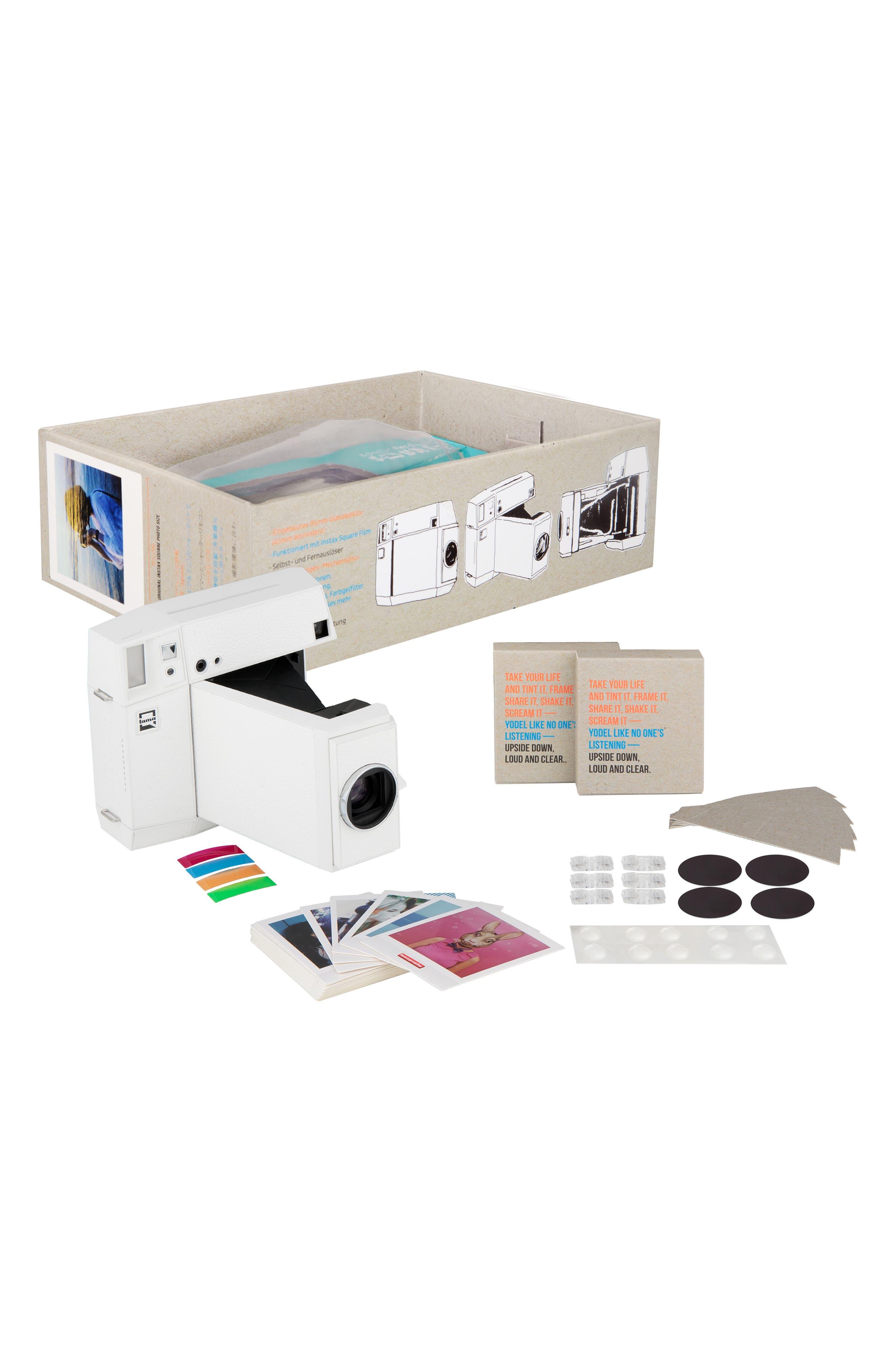 Lomo'Instant Square Glass Black Edition Instant Camera,                             Alternate thumbnail 7, color,                             WHITE