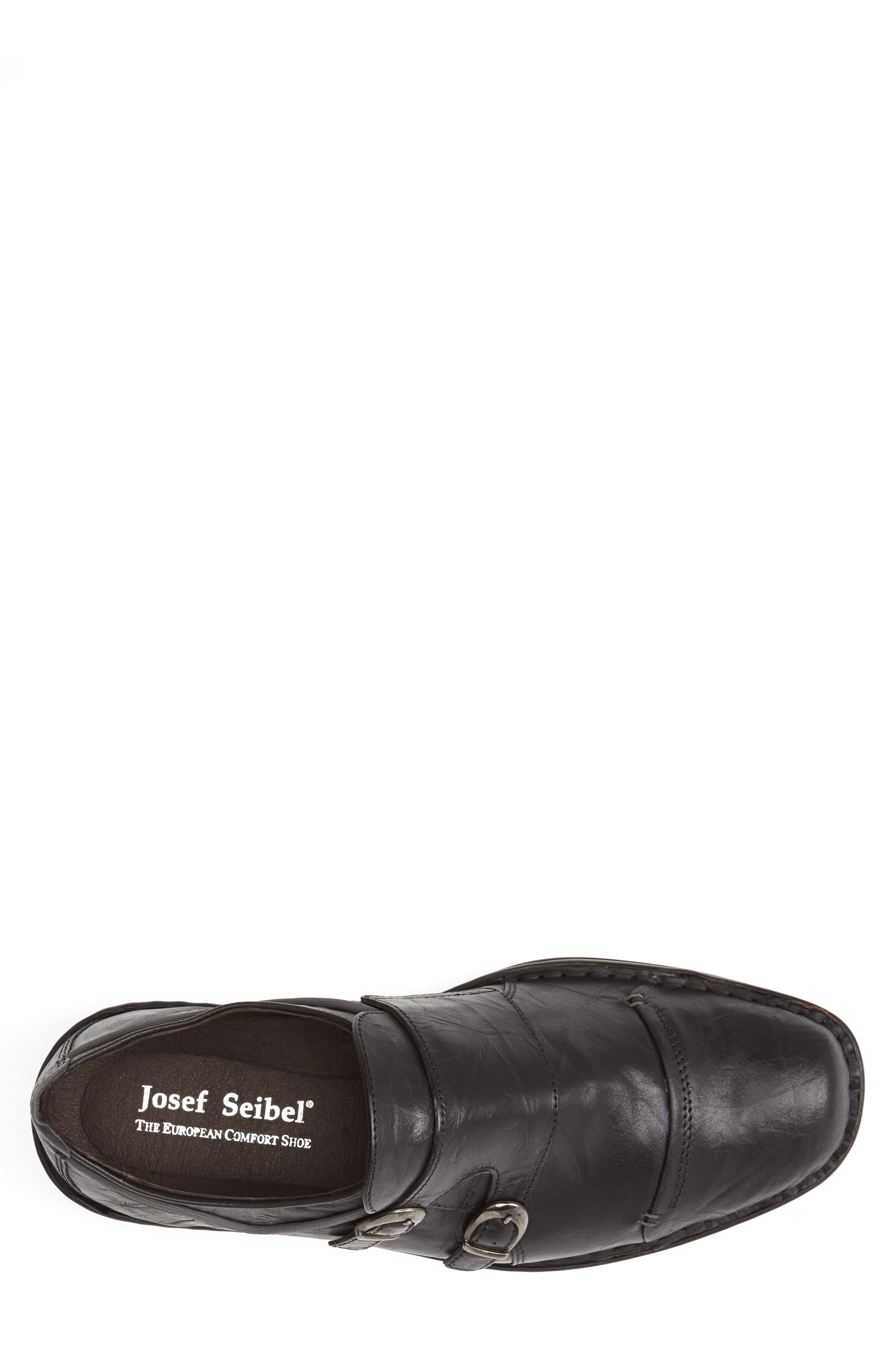 'Douglas 11' Double Monk Strap Shoe,                             Alternate thumbnail 2, color,                             BLACK