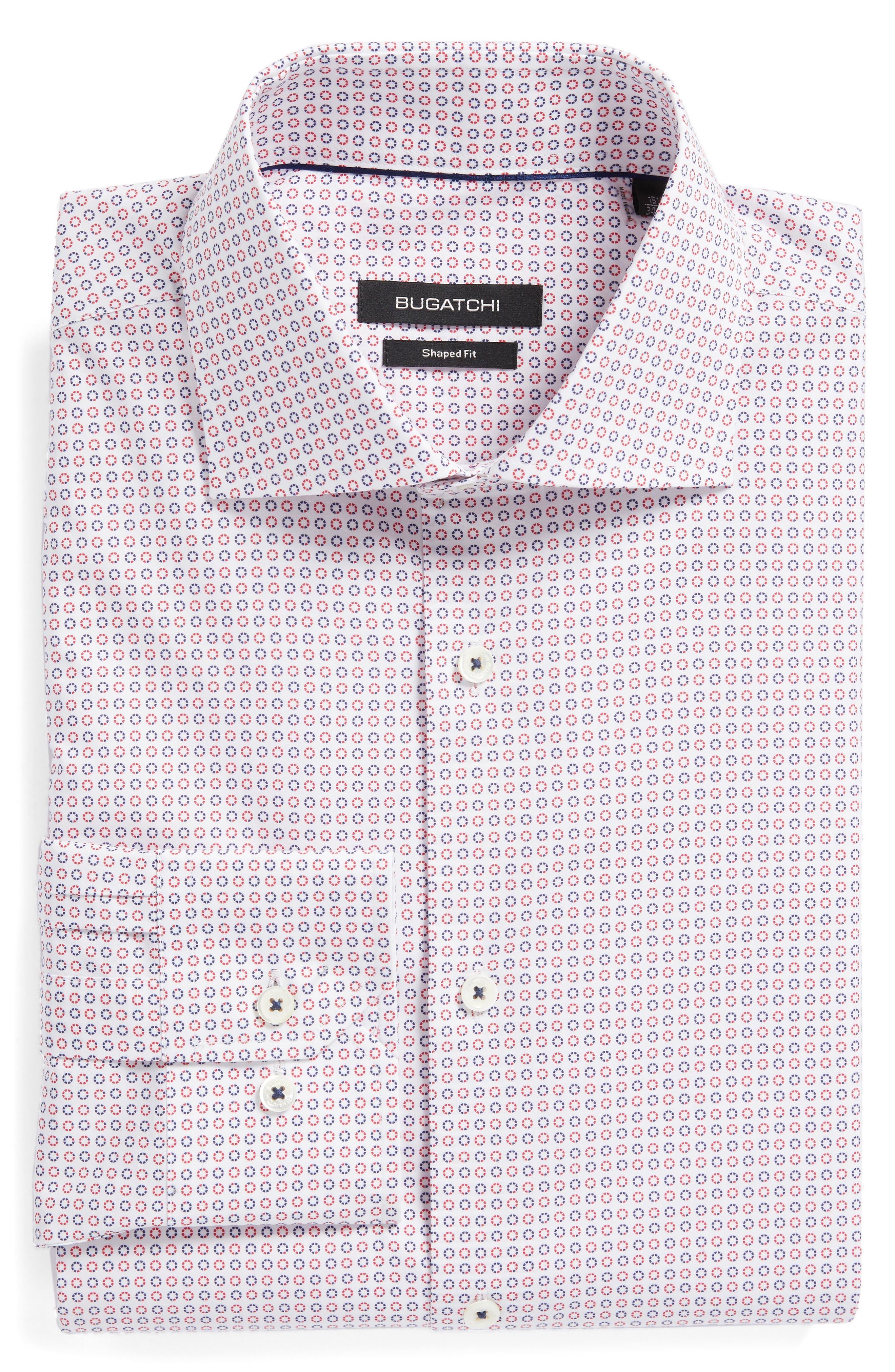 Trim Fit Dot Dress Shirt,                             Alternate thumbnail 5, color,                             602