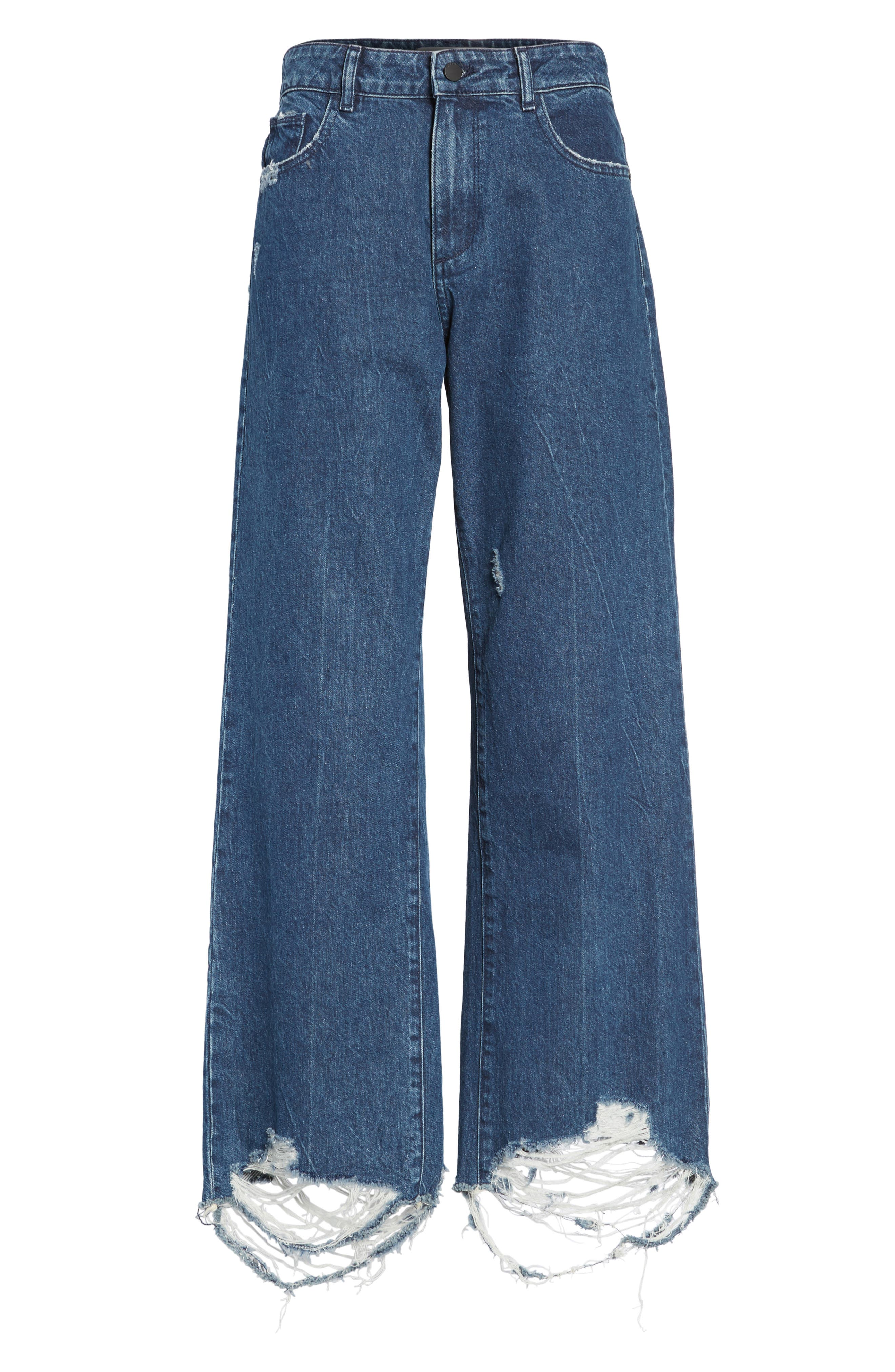 Hepburn High Waist Wide Leg Jeans,                             Alternate thumbnail 6, color,