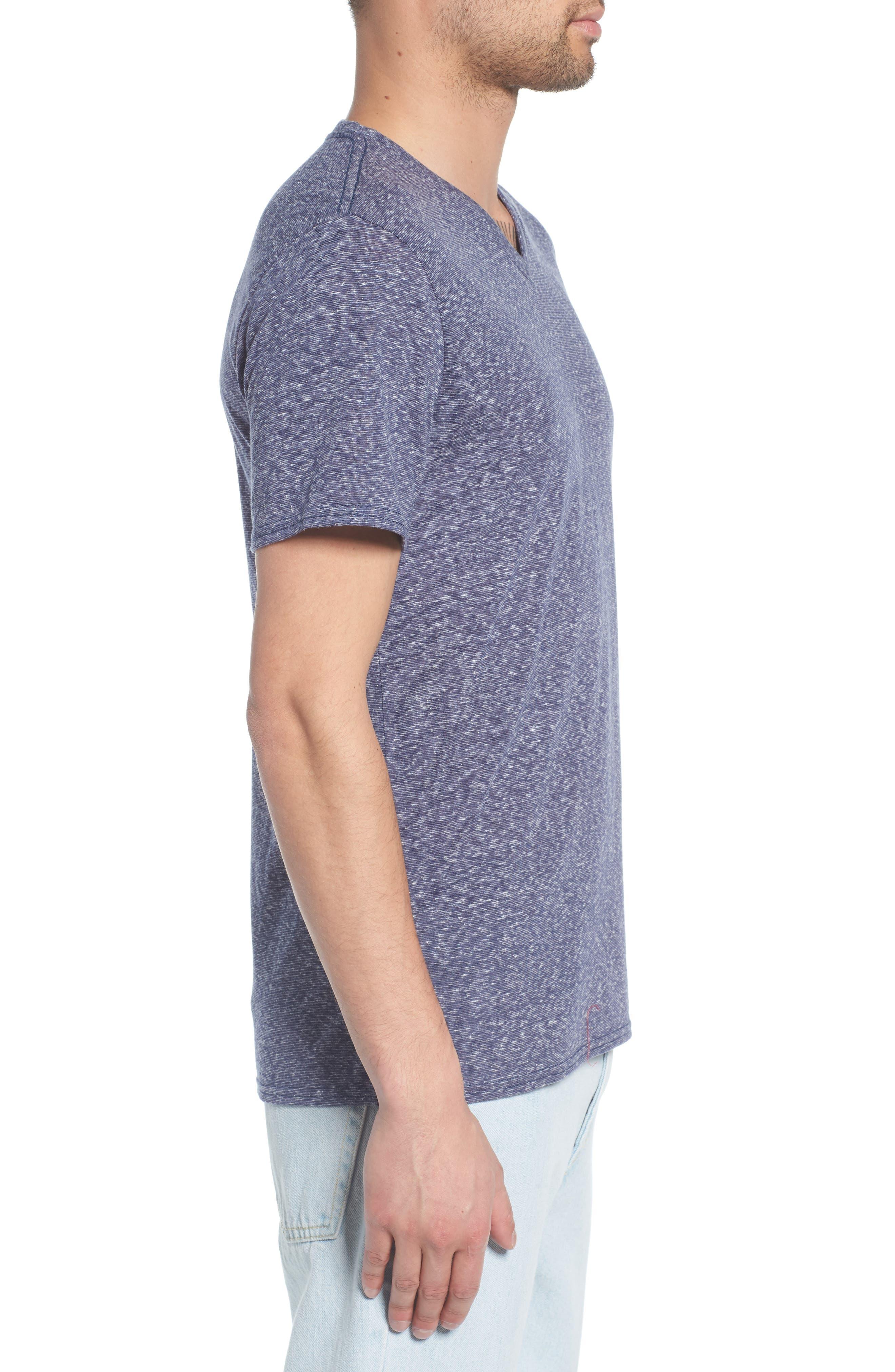 Jersey V-Neck T-Shirt,                             Alternate thumbnail 3, color,                             410