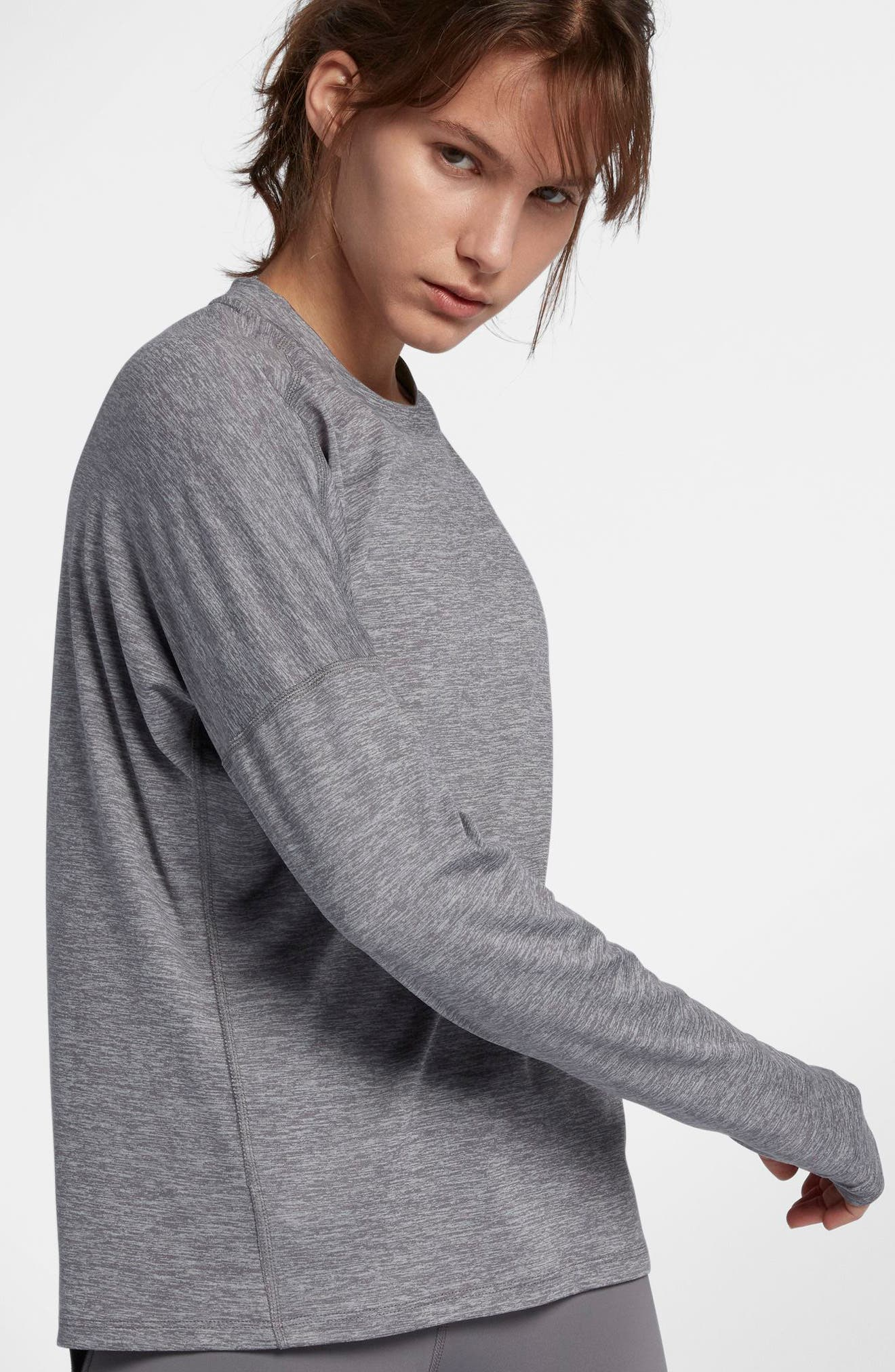 NIKE,                             Dry Element Long Sleeve Top,                             Alternate thumbnail 8, color,                             036