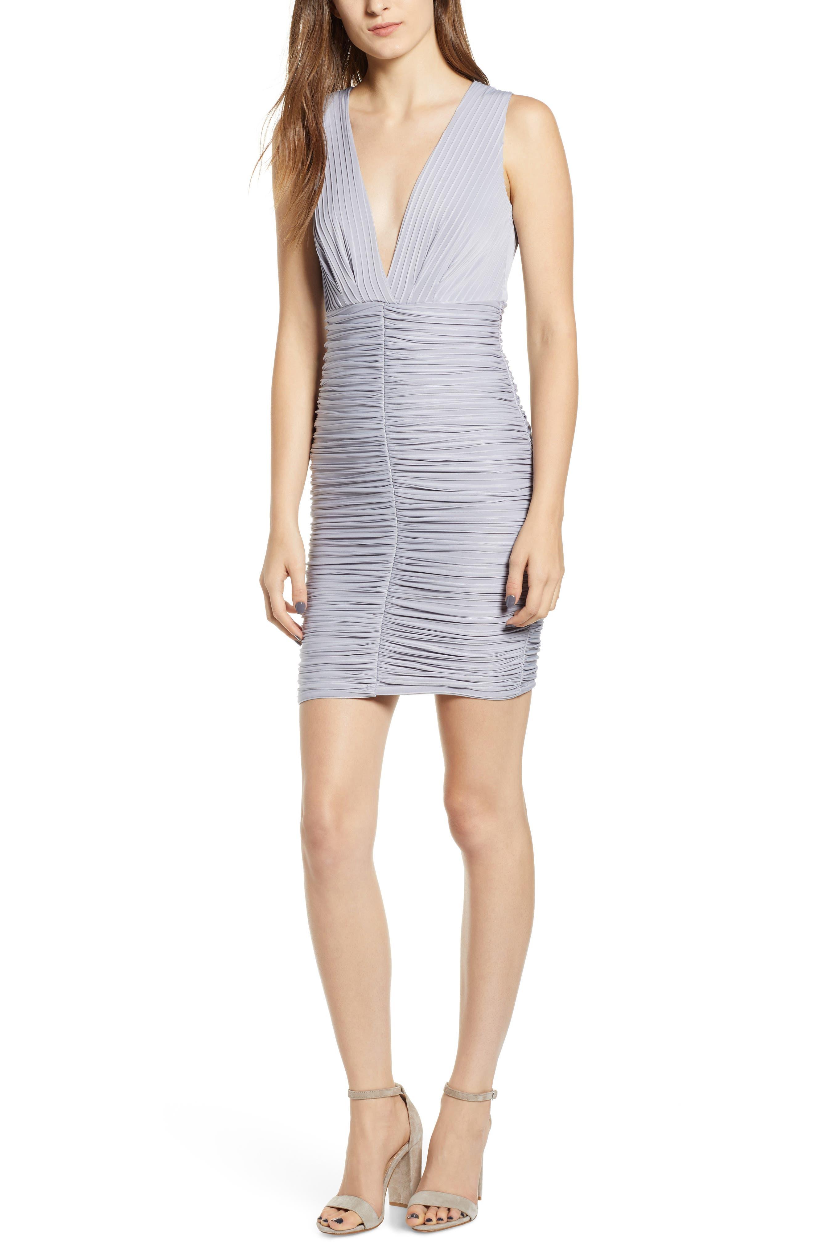 Ribbed Body-Con Dress,                             Main thumbnail 1, color,                             GREY LILAC