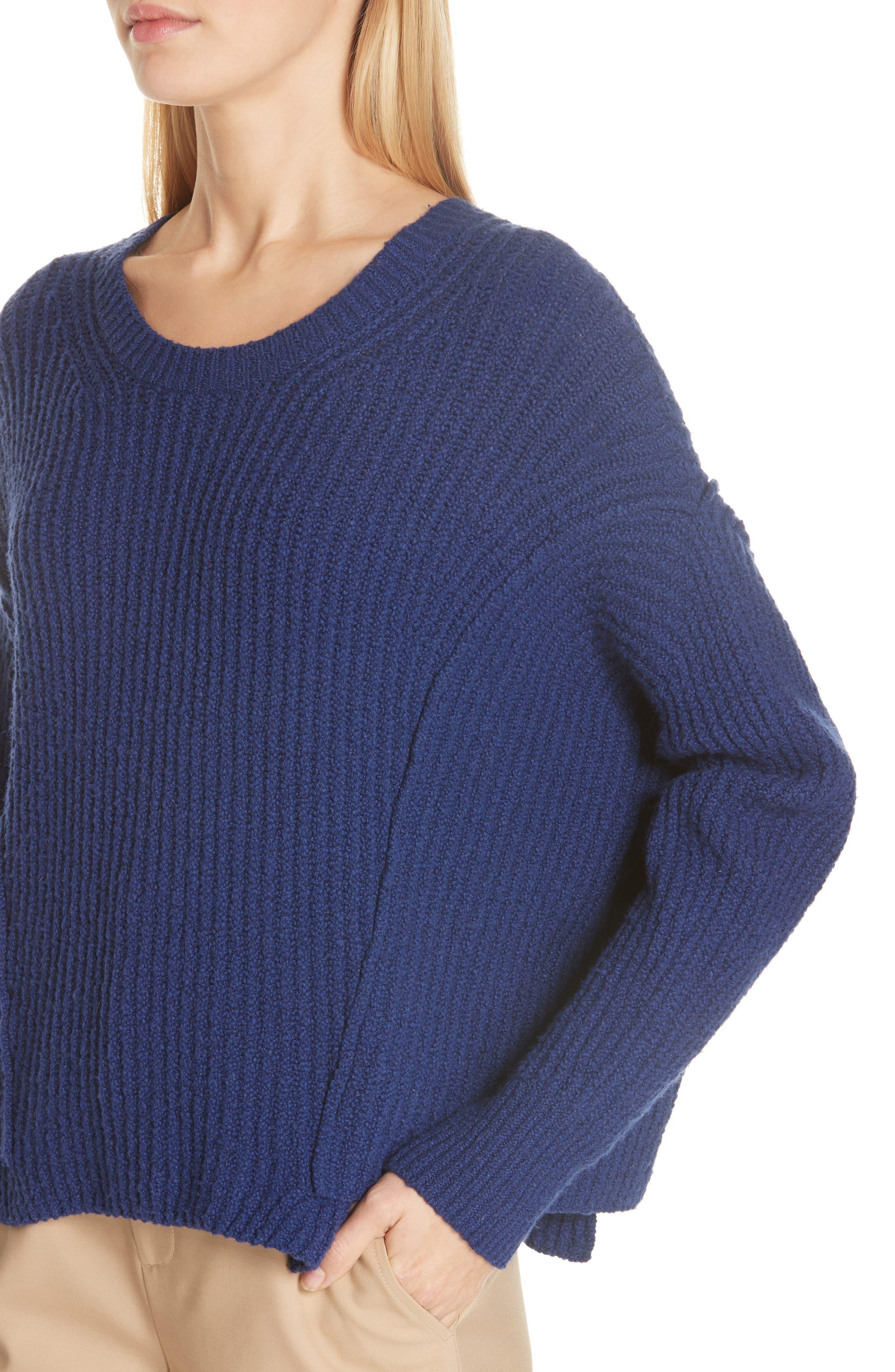 Overlap Panel Sweater,                             Alternate thumbnail 4, color,                             INK