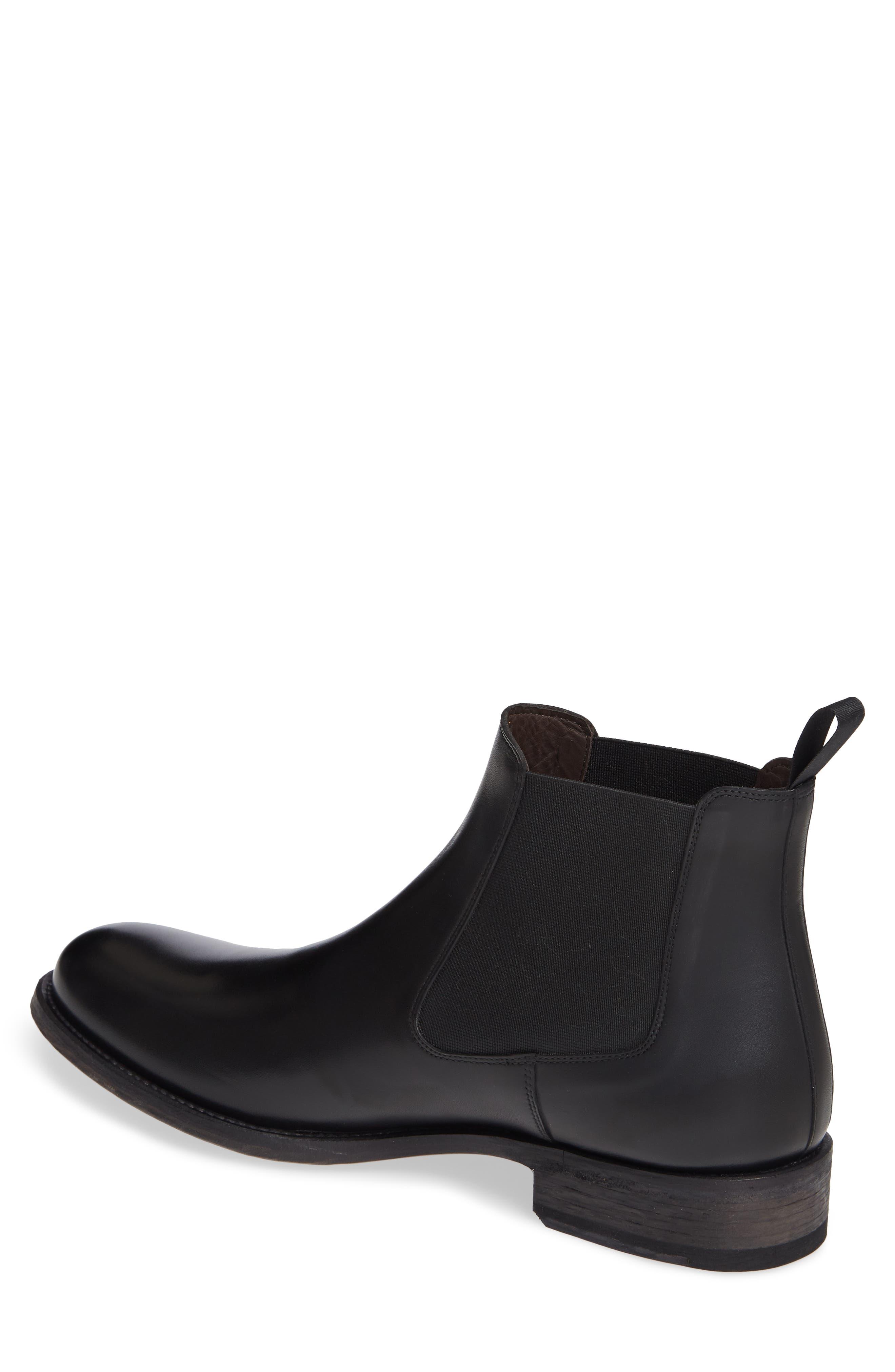 Saburo Water Resistant Chelsea Boot,                             Alternate thumbnail 2, color,                             BLACK LEATHER