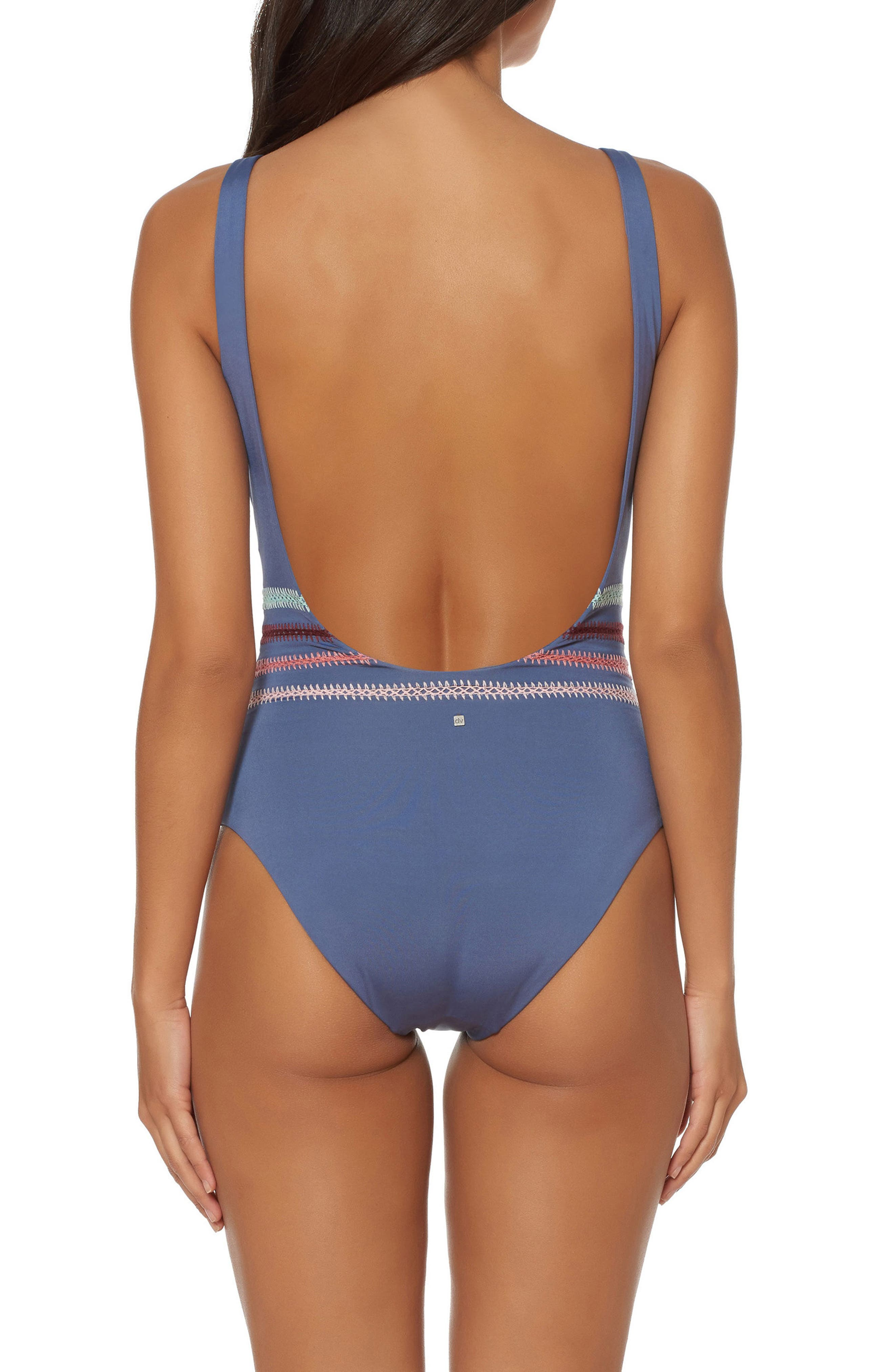 Embroidered One-Piece Swimsuit,                             Alternate thumbnail 2, color,                             030